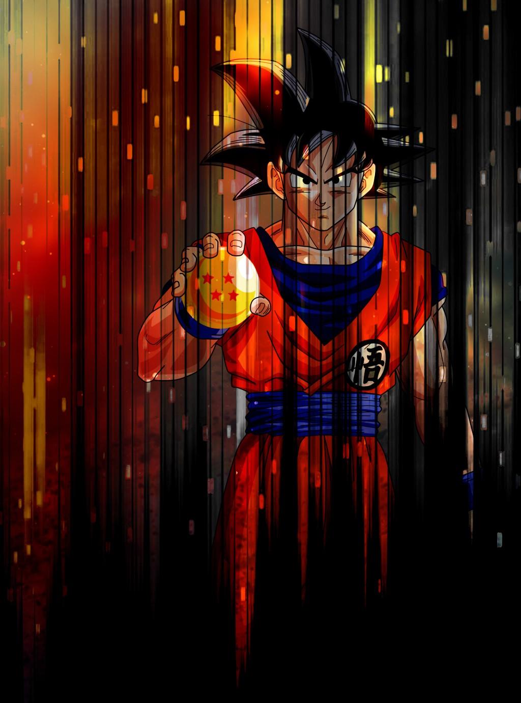 Dragon Ball Z Red Lines Goku Wallpaper Fondos De
