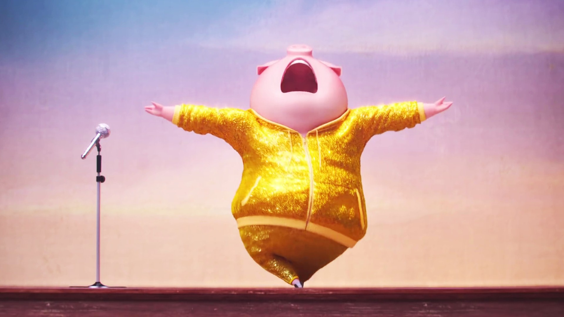 Dancing Pig In Sing Movie - Sing The Movie Gifs , HD Wallpaper & Backgrounds