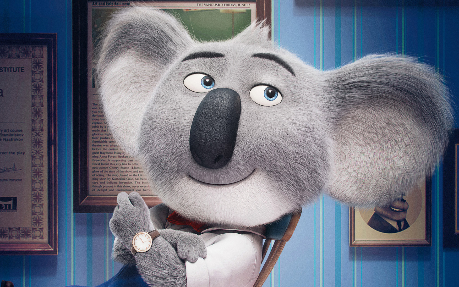Buster Moon In Sing Animation Movie Wallpaper - Sing Rock Bottom Quote , HD Wallpaper & Backgrounds