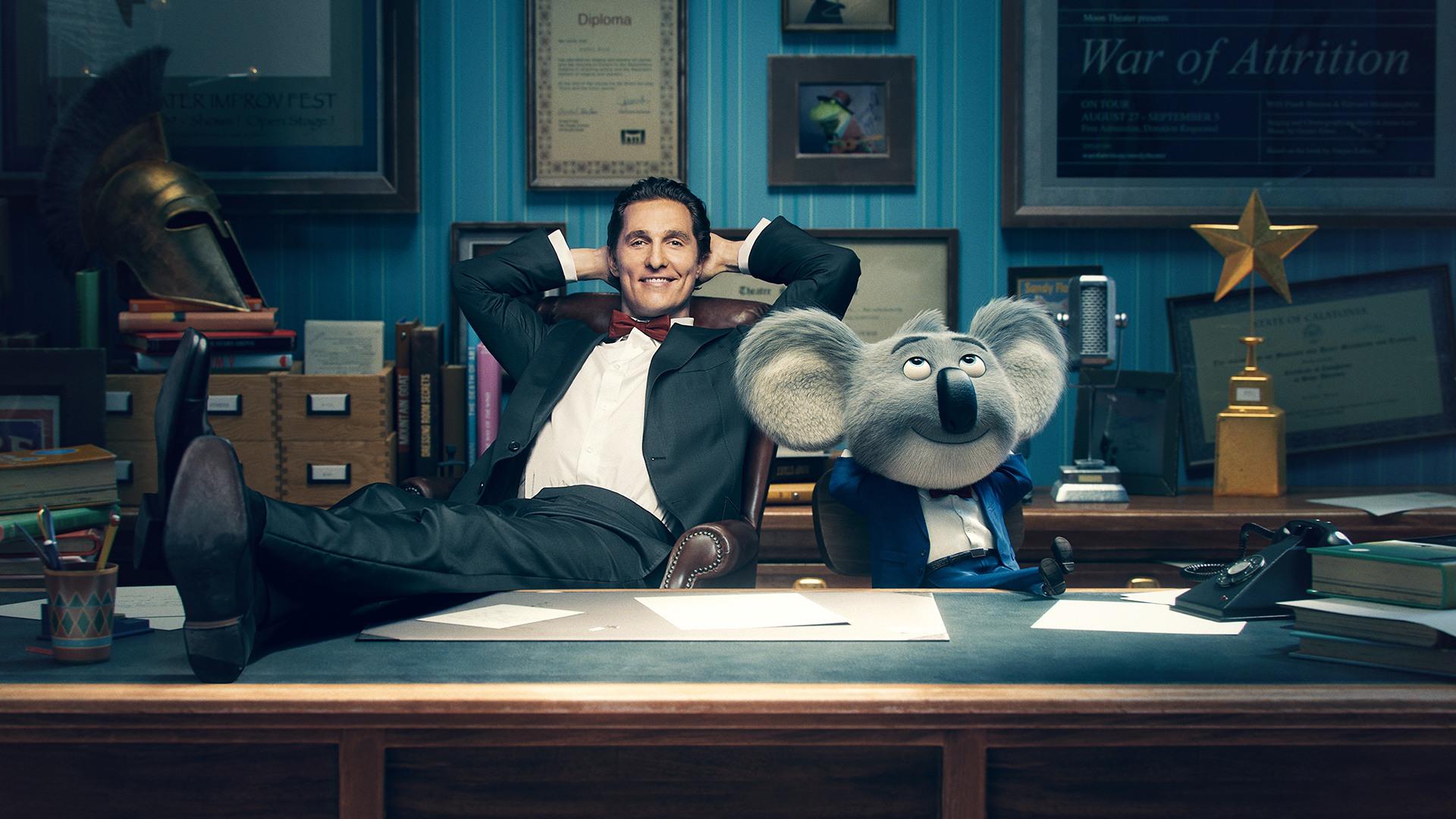 View Samegoogleiqdbsaucenao Matthew Mcconaughey As - Sing Cast With Character , HD Wallpaper & Backgrounds