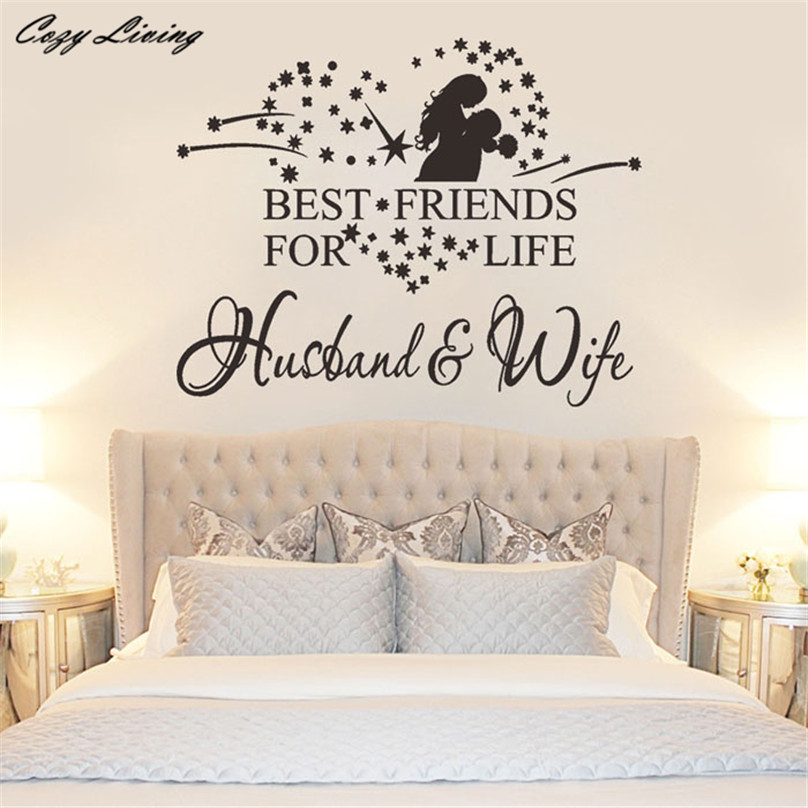 Wallpaper Sticker Bedroom New Husband And Wife Vinyl - Romantic Wall Designs For Bedroom , HD Wallpaper & Backgrounds