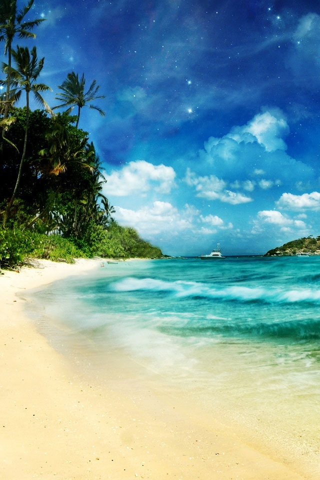 0 Download Free Wallpaper Tropical Beach For Mobile - Iphone Beach Wallpaper Hd , HD Wallpaper & Backgrounds