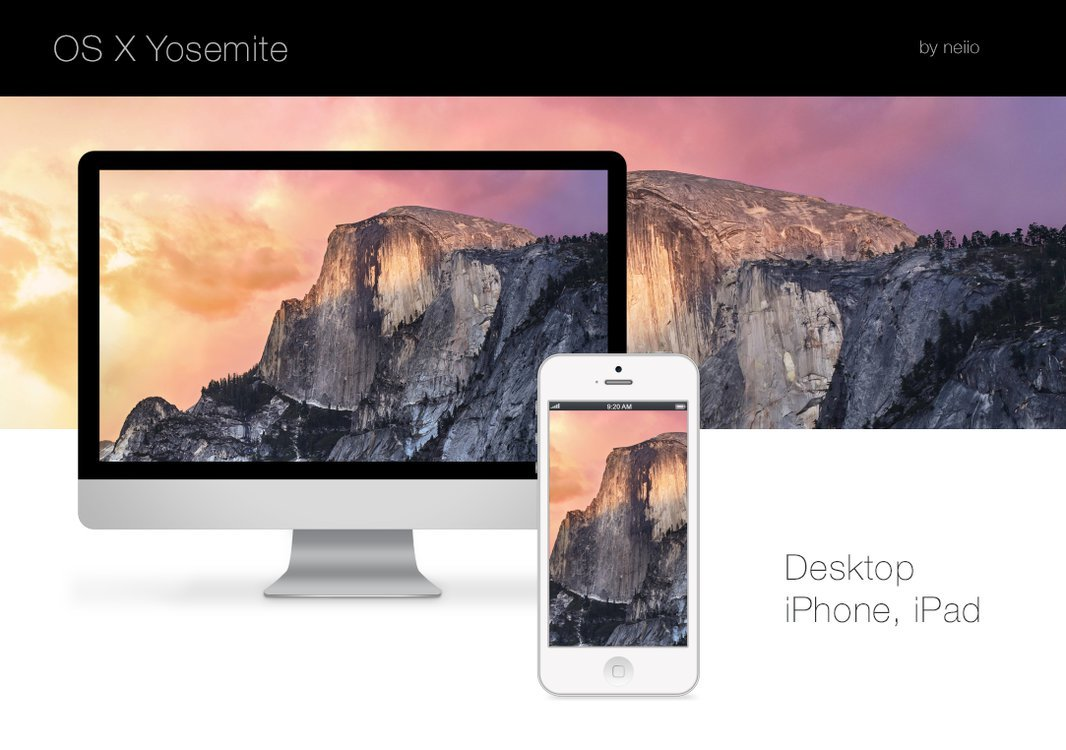 The Best Fan Made And Official Os X Yosemite And Ios Half