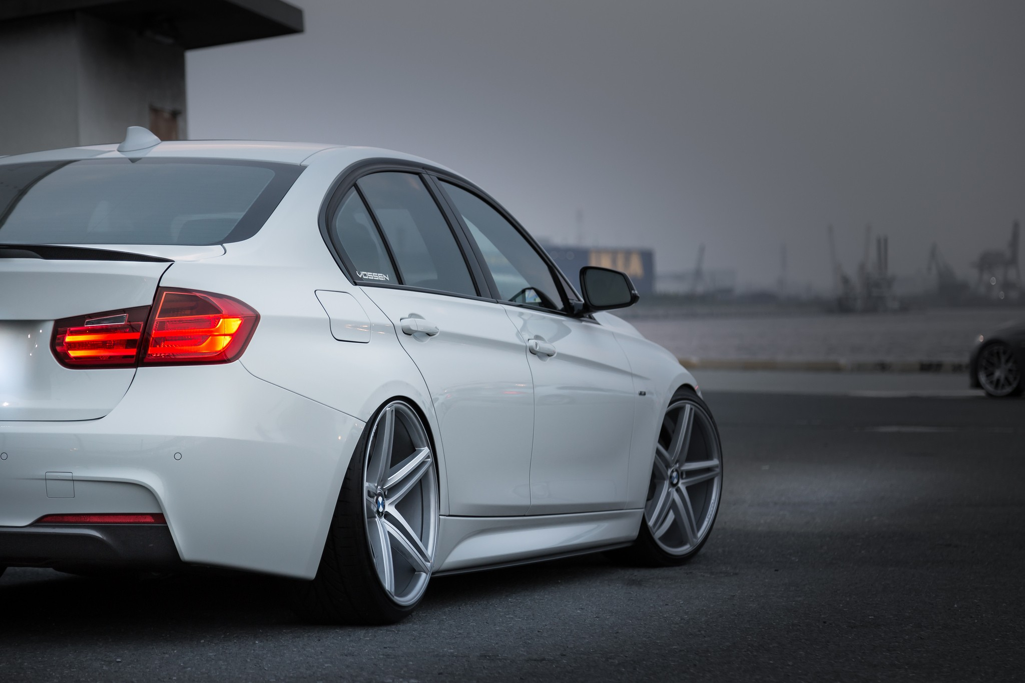 Bmw Car Stance Simple Wheels Camber Vehicle White Cars Bmw