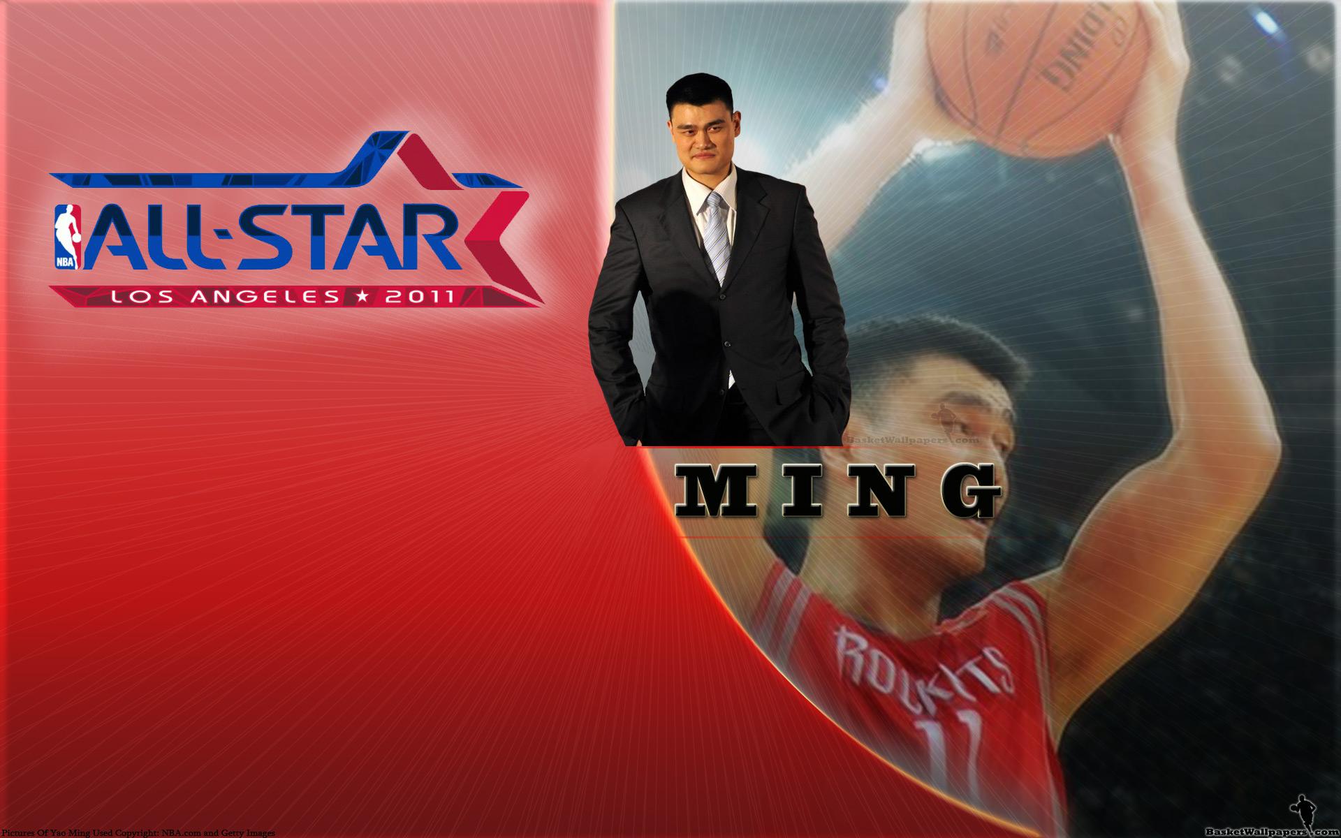 Yao Ming 2011 All-star Widescreen Wallpaper - Nba All Star Game 2011 , HD Wallpaper & Backgrounds