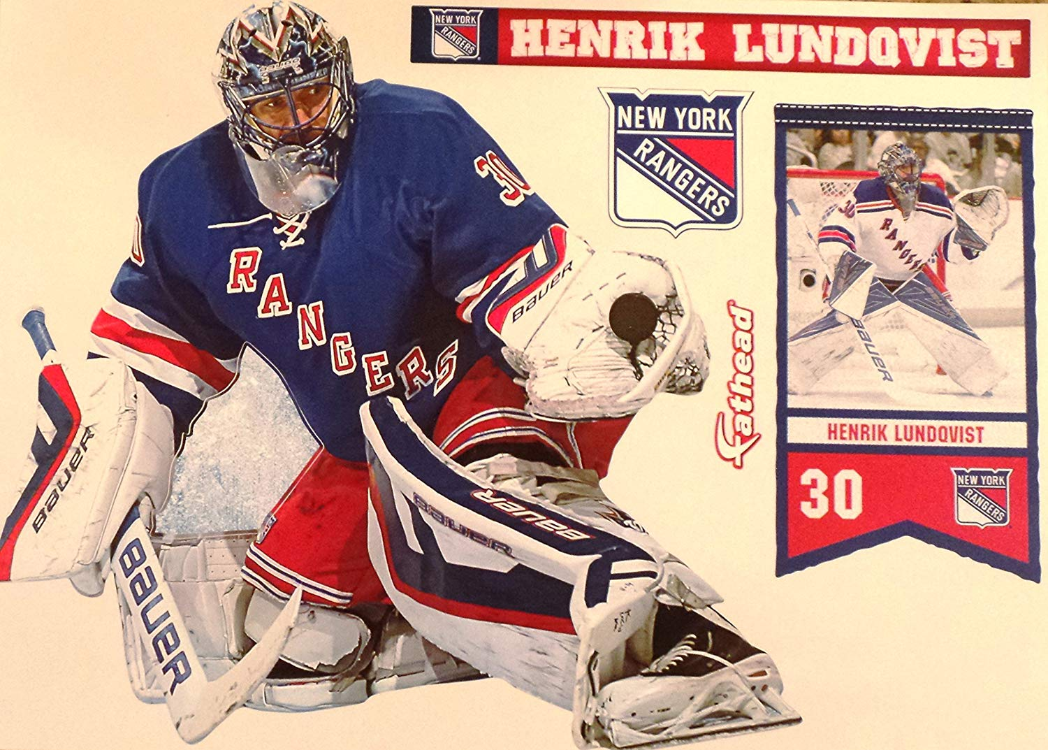 Fathead Henrik Lundqvist New York Rangers Logo Set New York