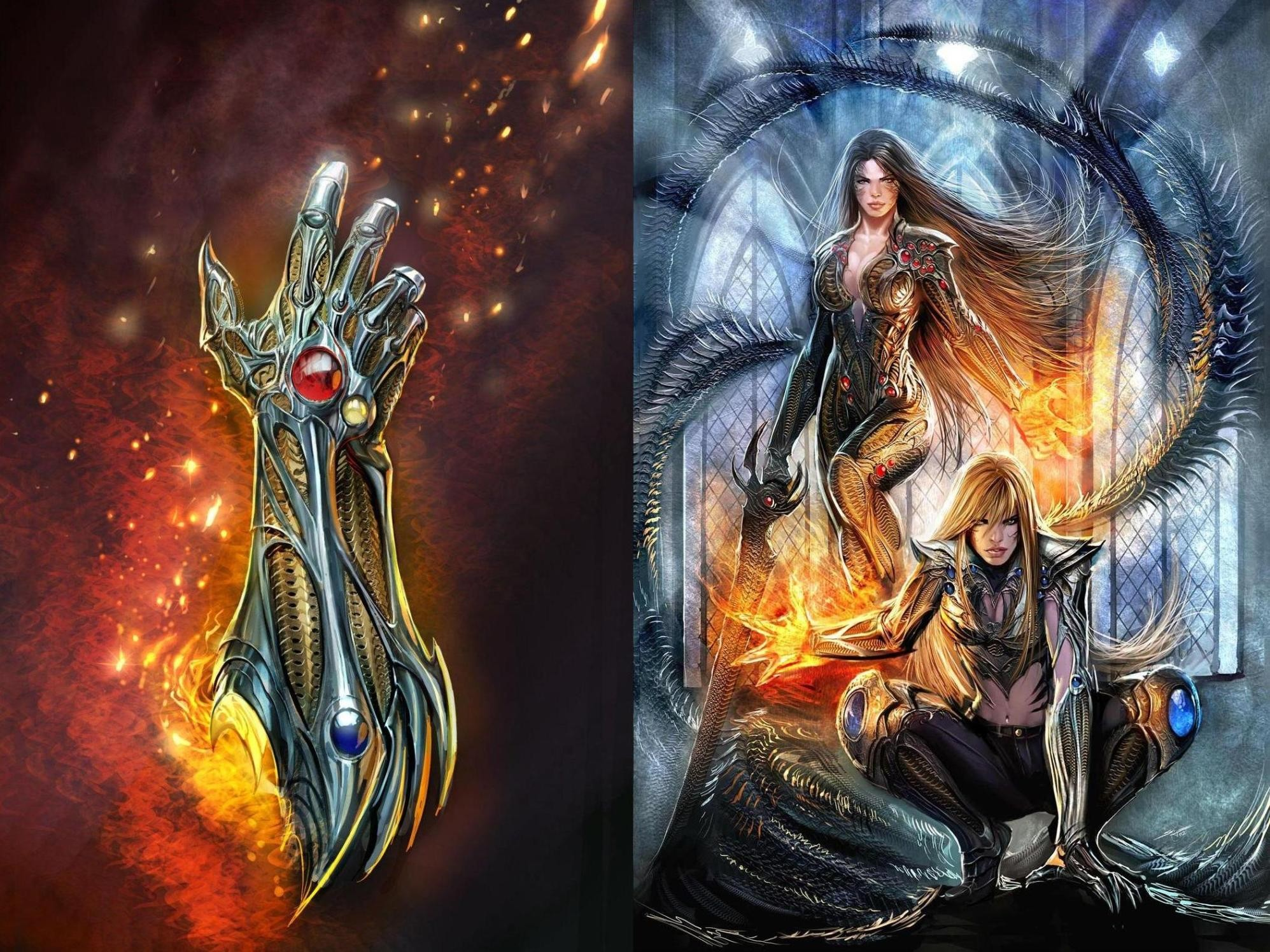 Fi, Magic,witchblade,hd Abstract Wallpapers, Mobile, - Magic Sci Fi Fantasy Art , HD Wallpaper & Backgrounds