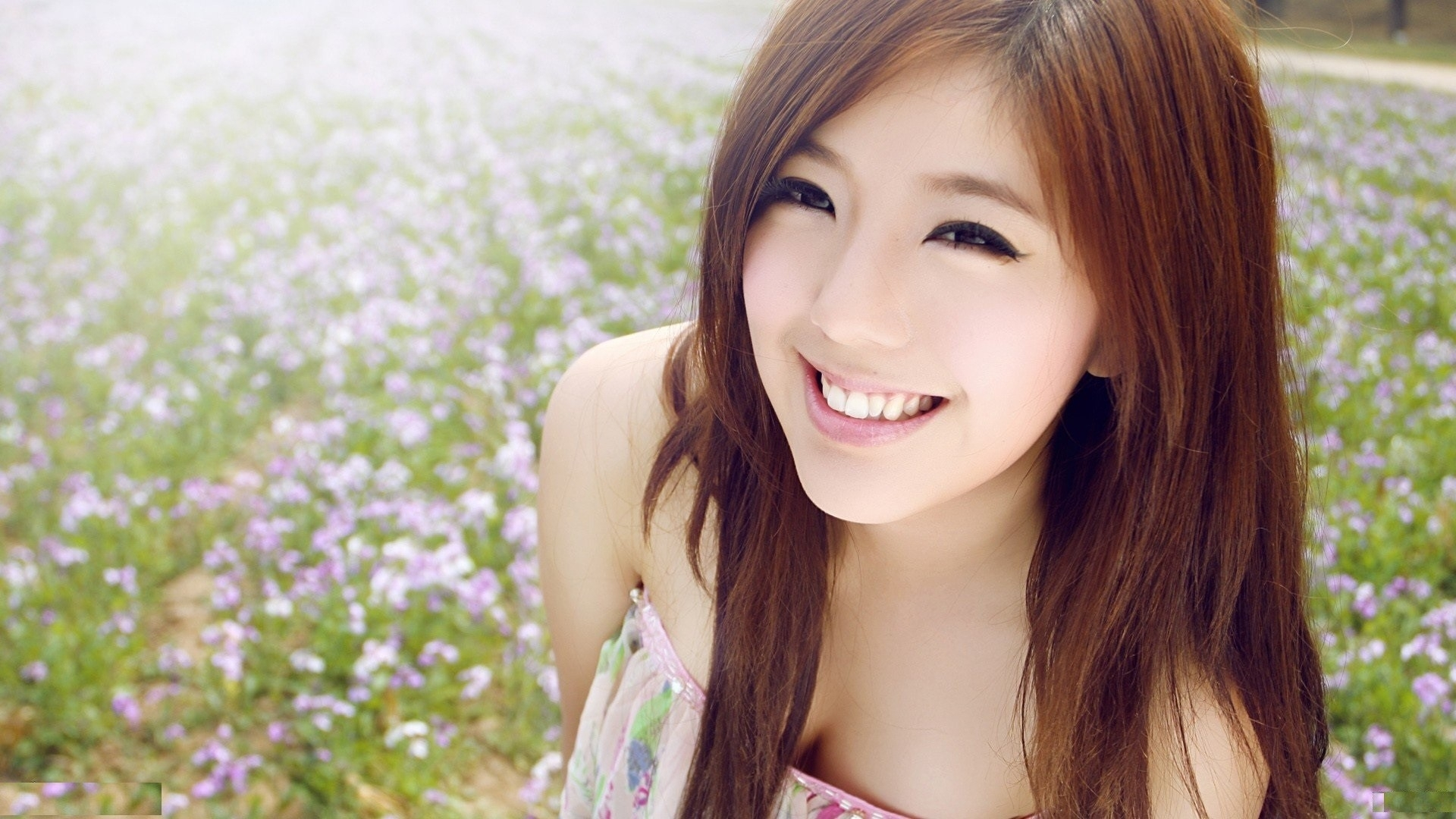 Cute Hd Wallpapers Of Girls 3d - Cute Korean Girl Smiling , HD Wallpaper & Backgrounds