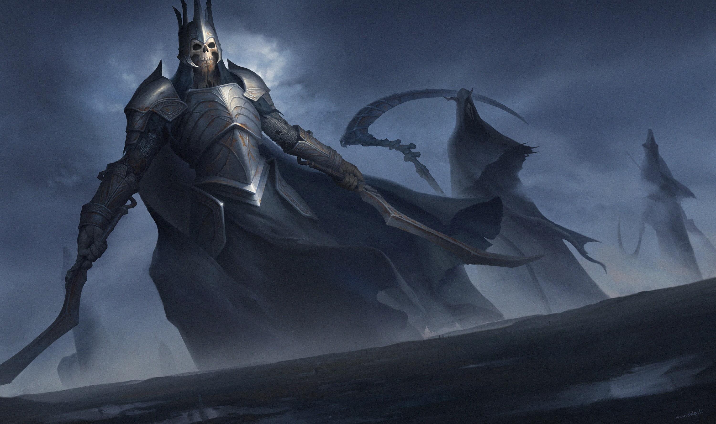 Armor, Artwork, Dark Fantasy, Digital Art, Fantasy - Skeleton In Armor Art , HD Wallpaper & Backgrounds