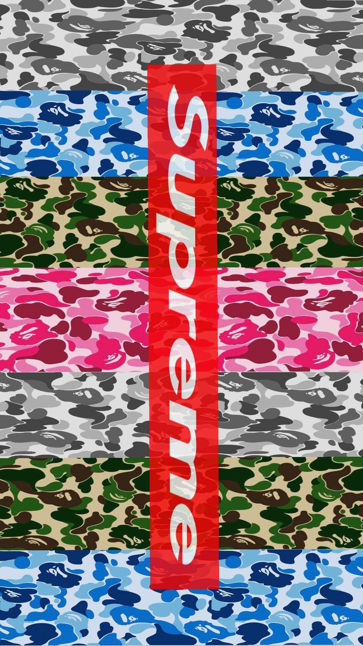 Cartoon Supreme Bape Gucci Wallpaper | Brengsek Wall