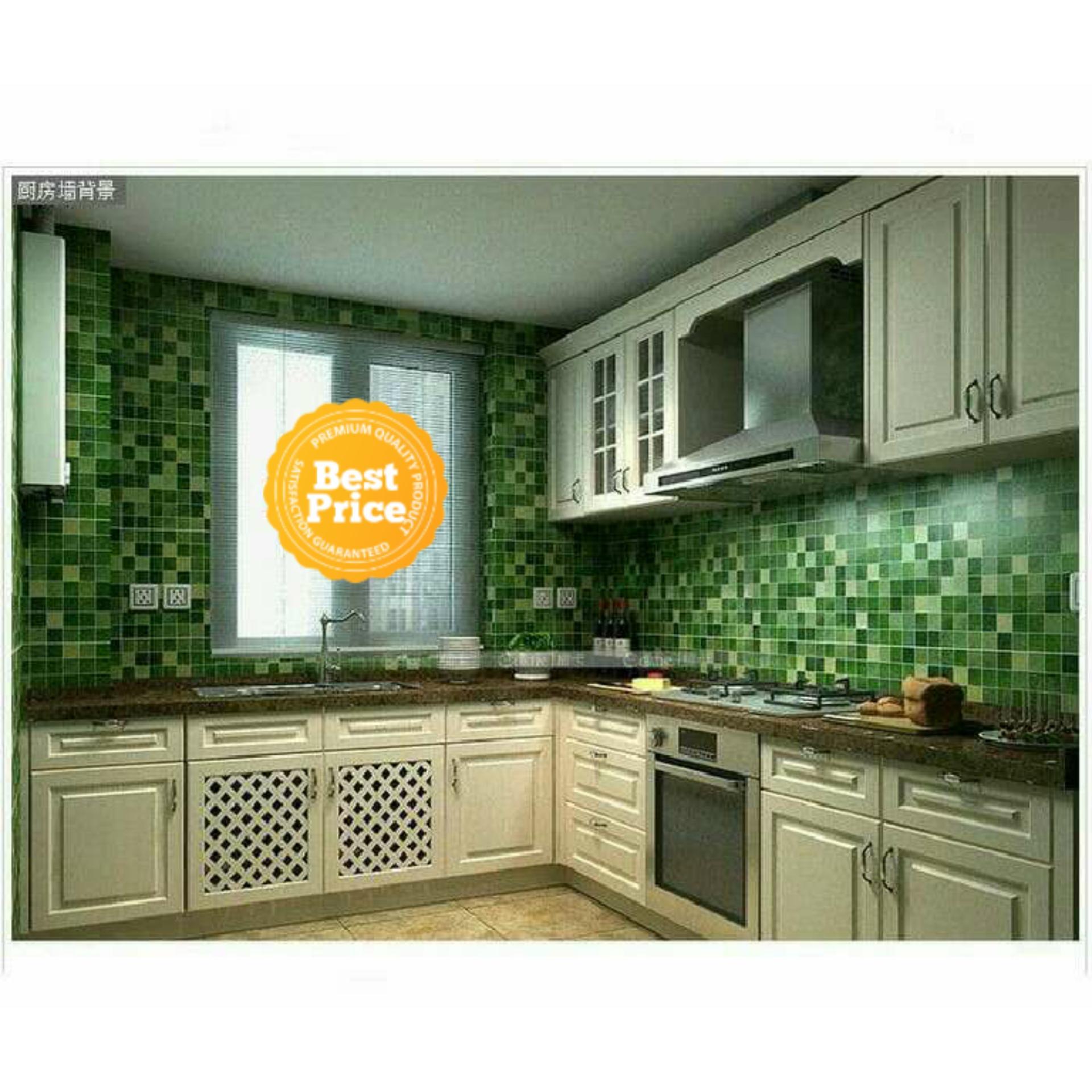 Wallpaper Sticker Dinding Kamar Mandi & Dapur Anti Keramik