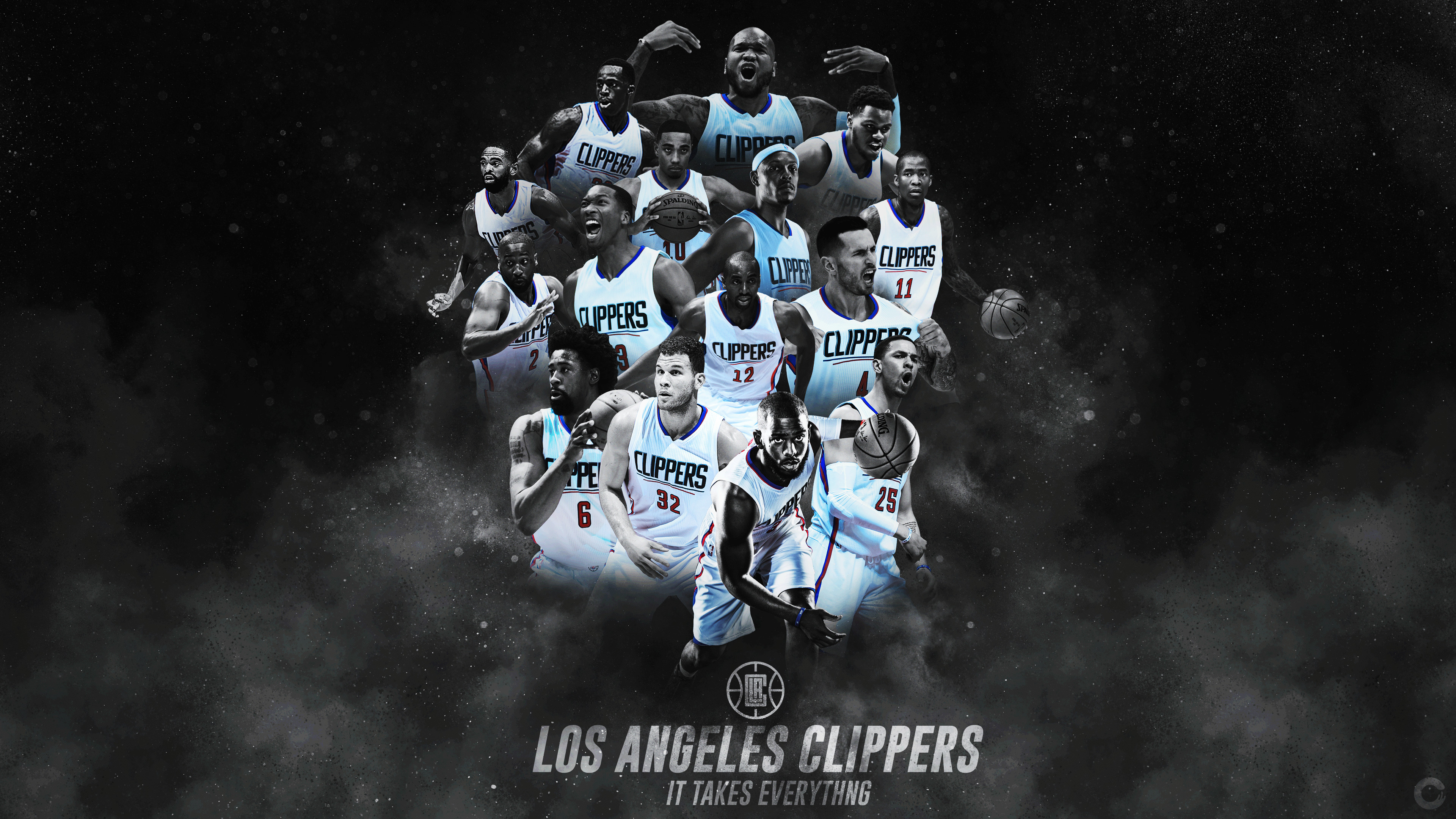 Los Angeles Clippers Wallpapers - Los Angeles Clippers 2017 , HD Wallpaper & Backgrounds