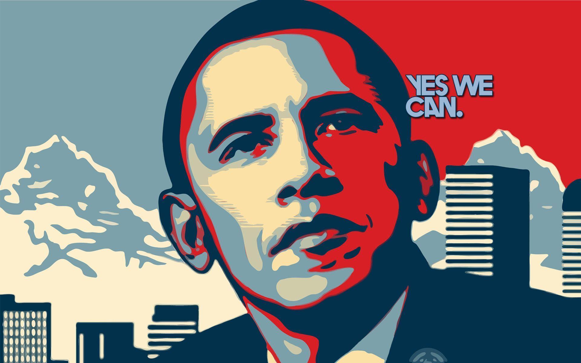 Fonds D'écran Barack Obama - Obama Yes We Can , HD Wallpaper & Backgrounds