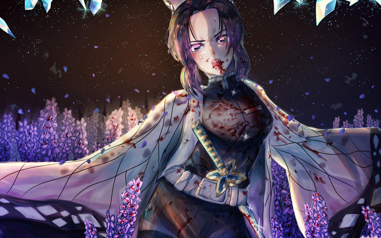 Shinobu Kochou Manga Kimetsu No Yaiba Demon Hunter Kimetsu