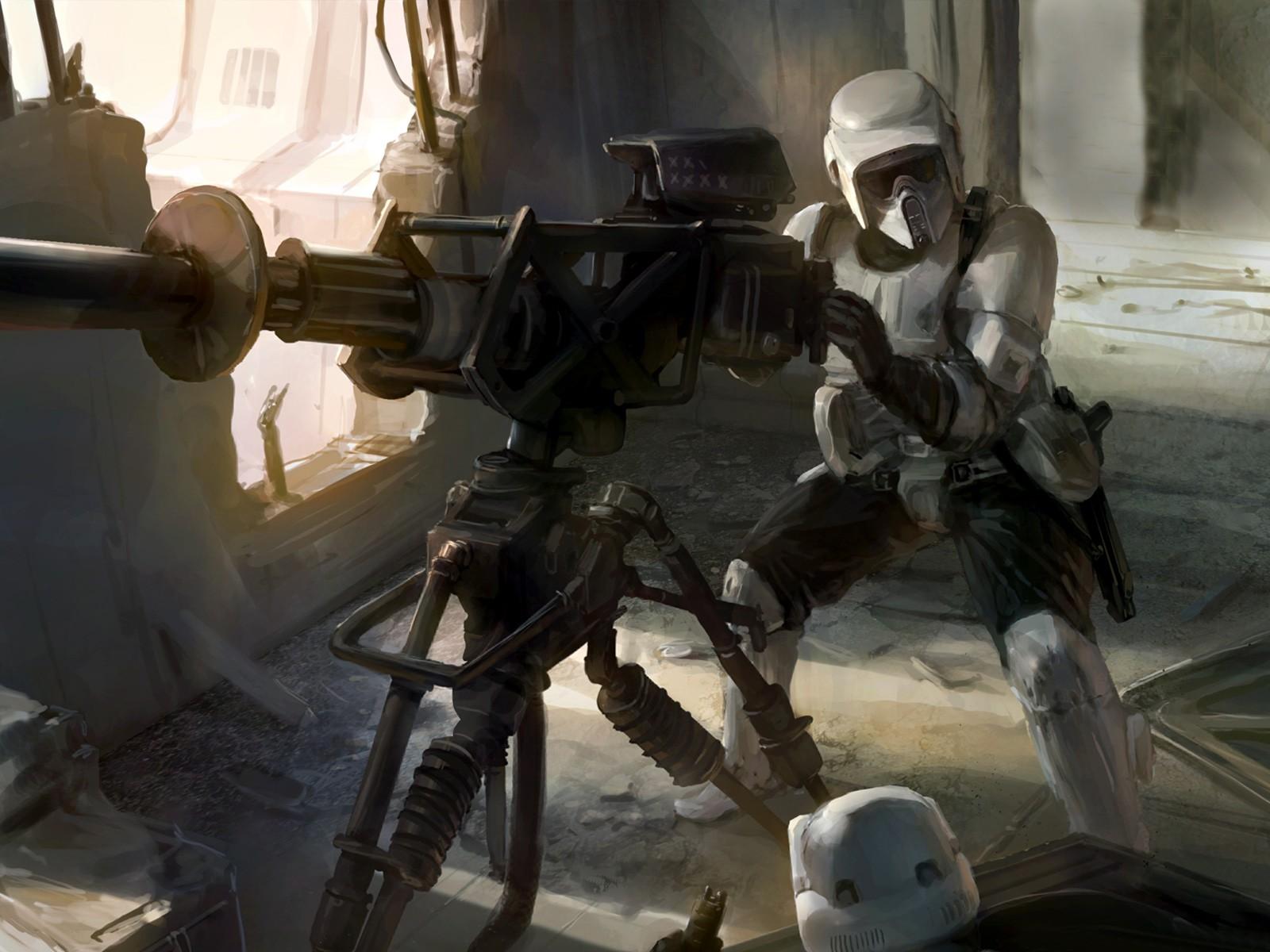 Wallpaper Star Wars Scout Trooper Art 1678970 Hd Wallpaper Backgrounds Download