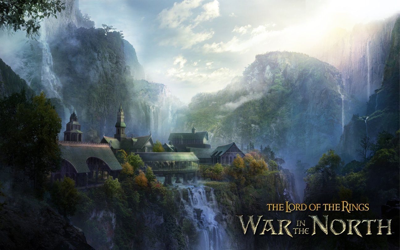 Der Herr Der Ringe - Rivendell Lord Of The Rings , HD Wallpaper & Backgrounds