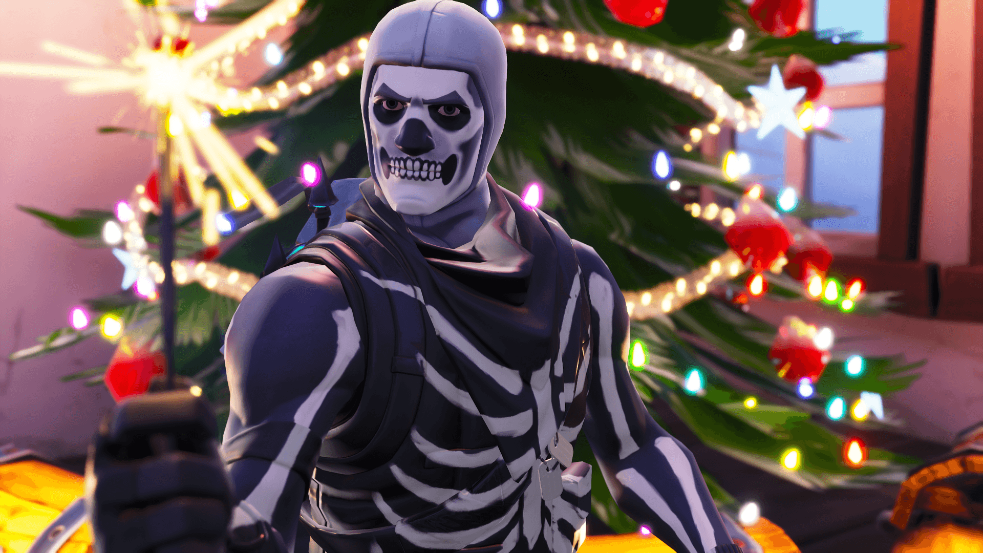 Ml Wallpaper Fortnite Skull Trooper Skin 1688826 Hd Wallpaper Backgrounds Download