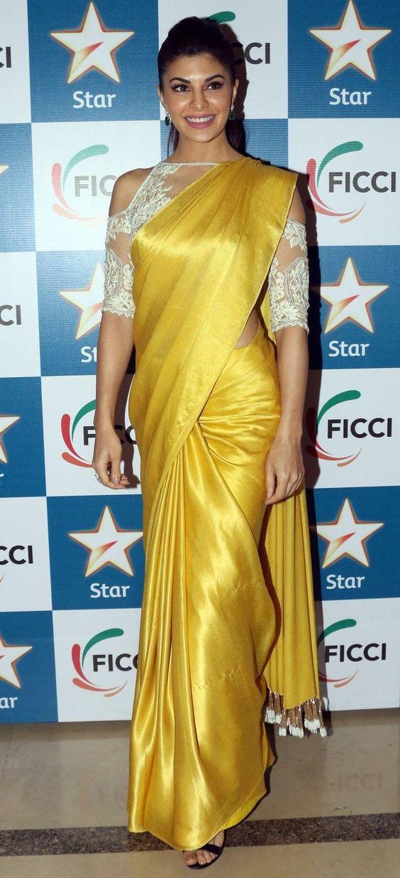 Designer Saree Blouse Images - Silk Plain Saree With Designer Blouse , HD Wallpaper & Backgrounds