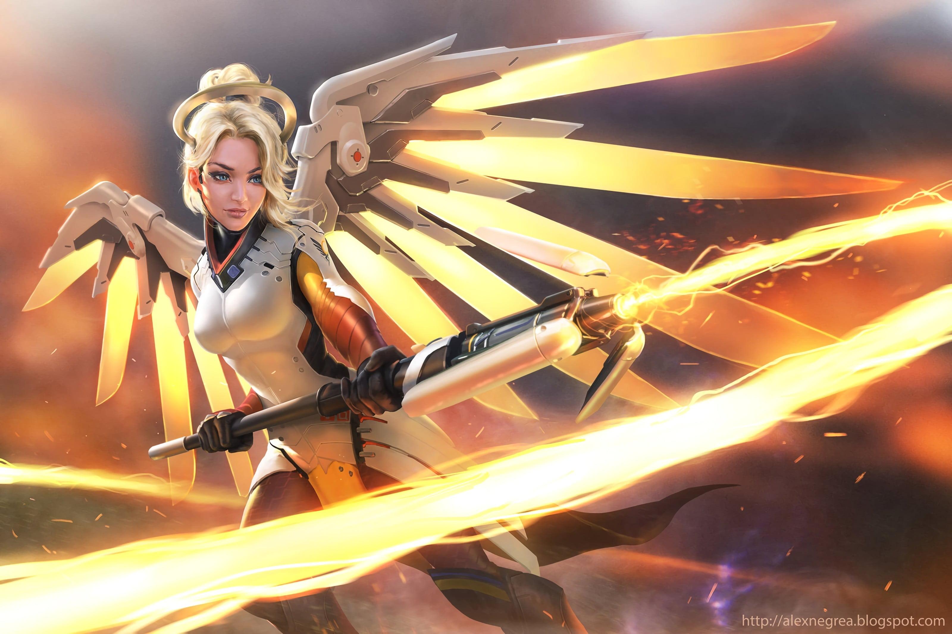 Mercy Overwatch 1693243 Hd Wallpaper Backgrounds Download