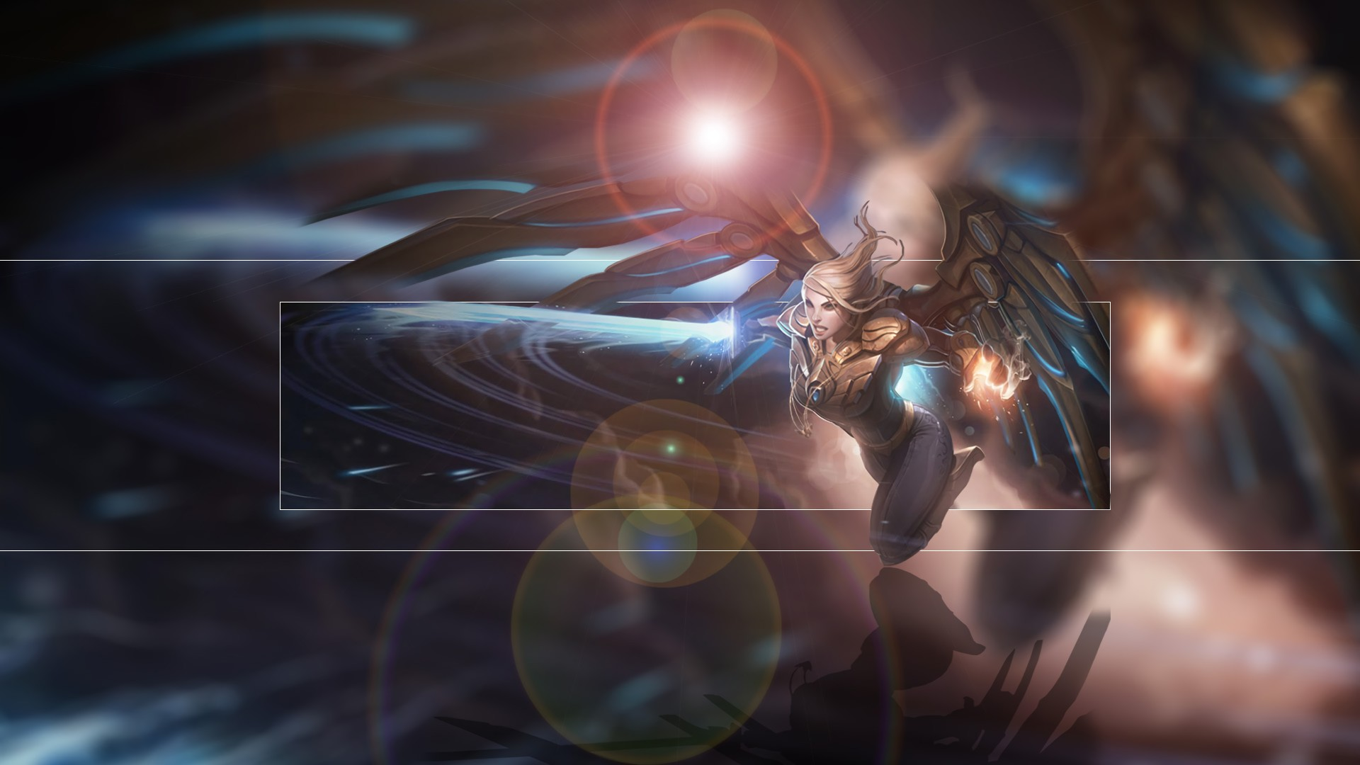 Aether Wing Kayle By Icehans Hd Wallpaper Fan Art Artwork - Aether Wing Kayle Splash Art , HD Wallpaper & Backgrounds