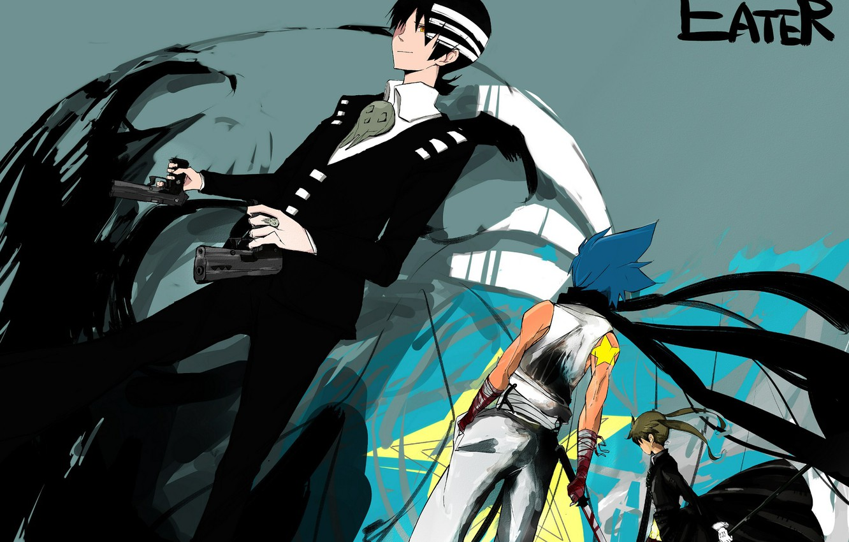 Photo Wallpaper Girl Weapons Guns Anime Guys Soul Soul Eater Black Star Pixiv 1695650 Hd Wallpaper Backgrounds Download