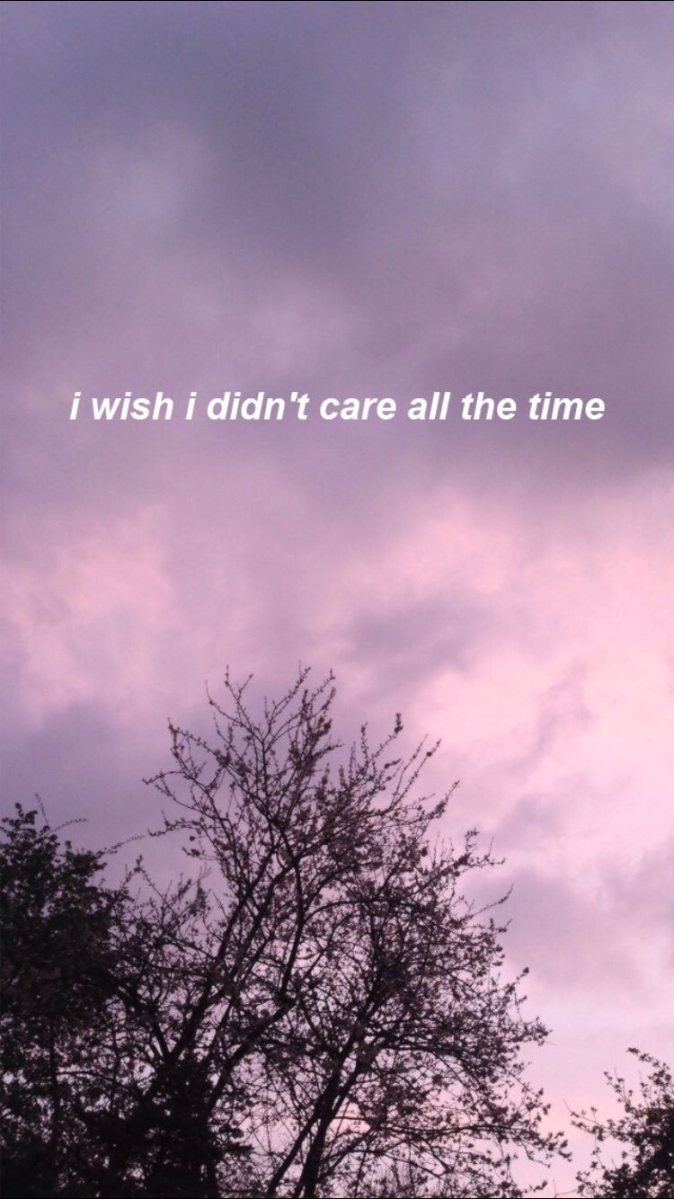 Yeah I Don't Care Wallpaper Quotes, Tumblr Wallpaper, - Wish I Didn T Care All , HD Wallpaper & Backgrounds