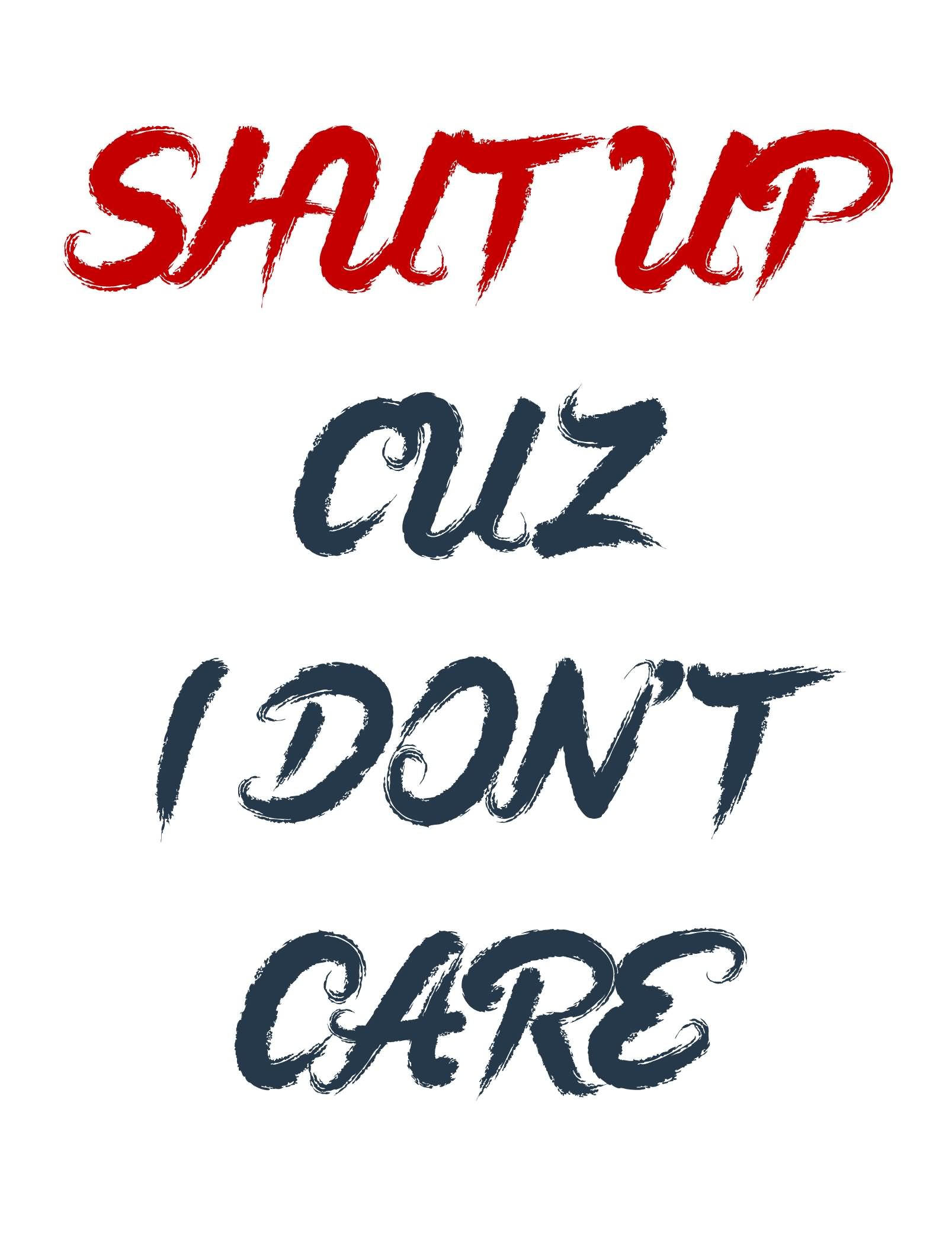 Shut Up Cuz I Don't Care - Calligraphy , HD Wallpaper & Backgrounds