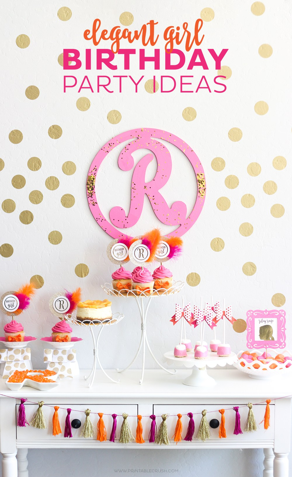If Your Daughter Is Into All Things Girly And Pink, - Simple Girls Birthday Themes , HD Wallpaper & Backgrounds