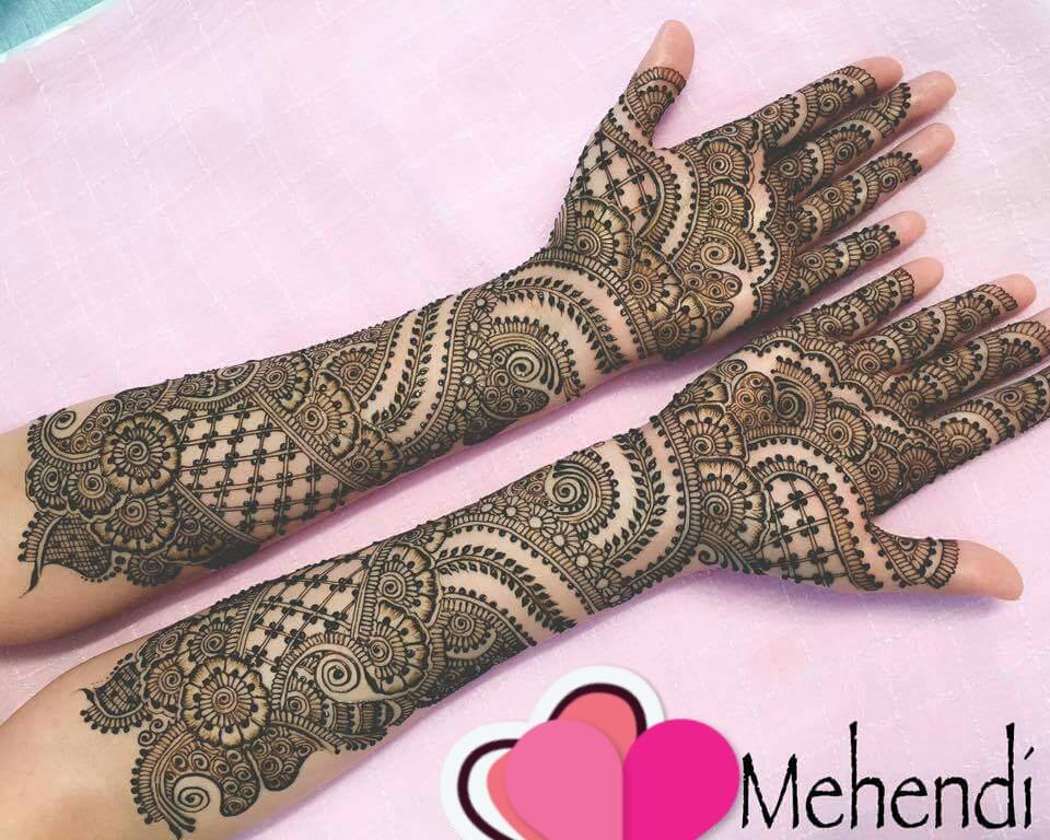 mehndi designs full hand dulhan