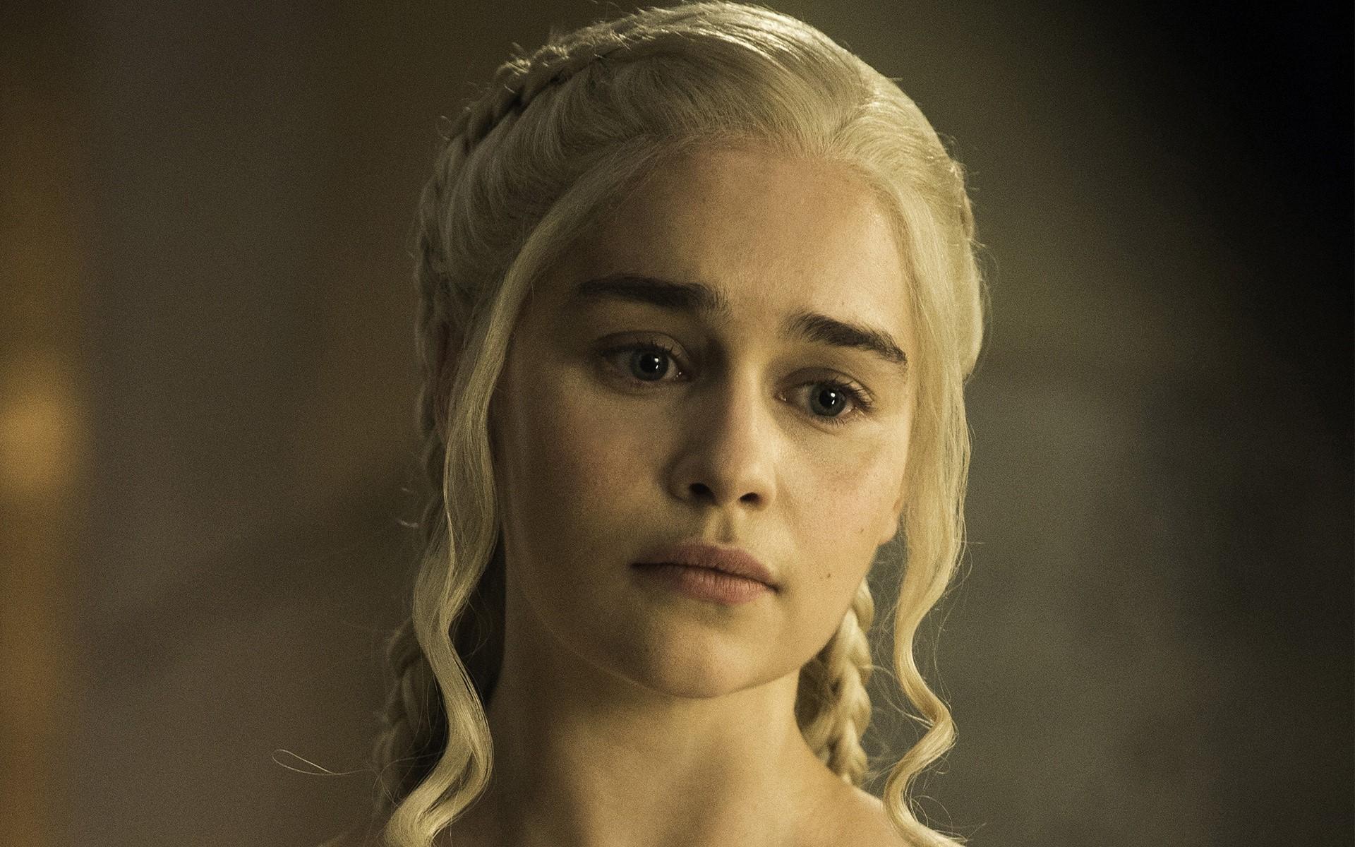 Wallpaper Emilia Clarke Como Daenerys En Juego De Tronos