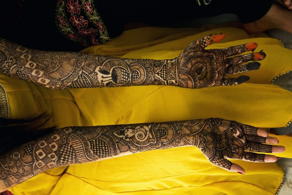 Full Hand Mehndi Design Free Download With Amazing - Full Hand Bridal Mehndi Design , HD Wallpaper & Backgrounds