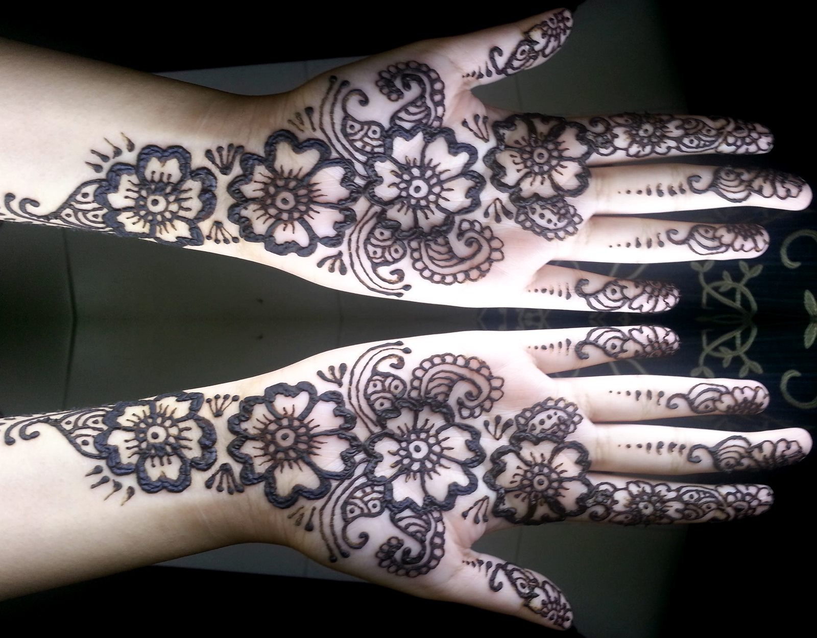 Simple Mehndi Design Arabic Style , HD Wallpaper & Backgrounds