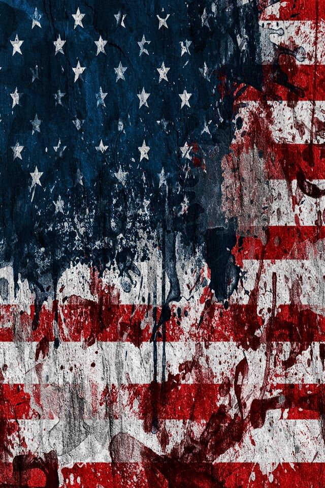 America Pictures Wallpaper Tattered American Flag