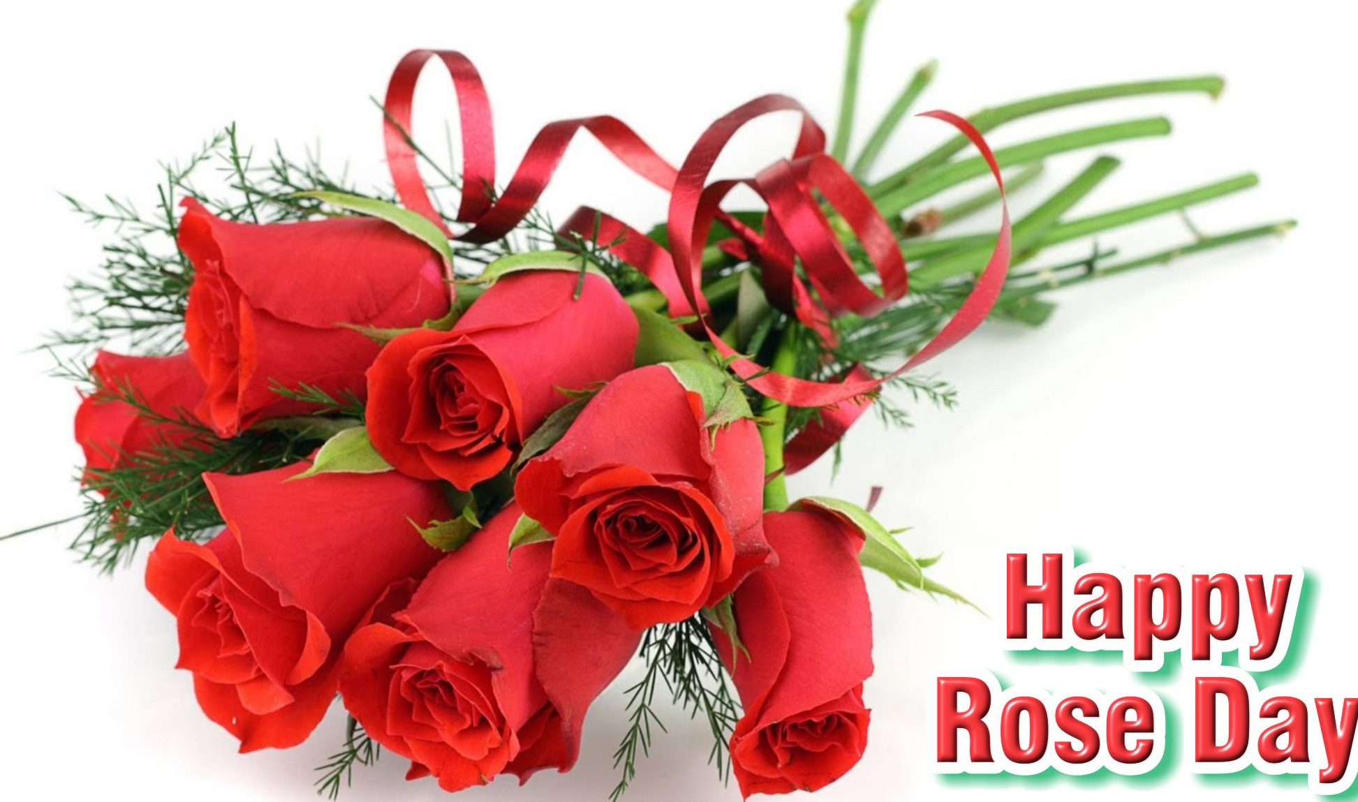 Happy Rose Day Red Roses Bouquet Wallpaper - Happy Rose Day 2019 Images Download , HD Wallpaper & Backgrounds
