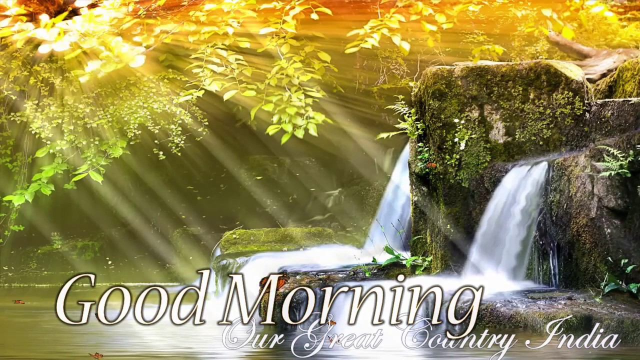 Good Morning Wallpaper Video Download - Waterfall Beautiful Nature Background , HD Wallpaper & Backgrounds