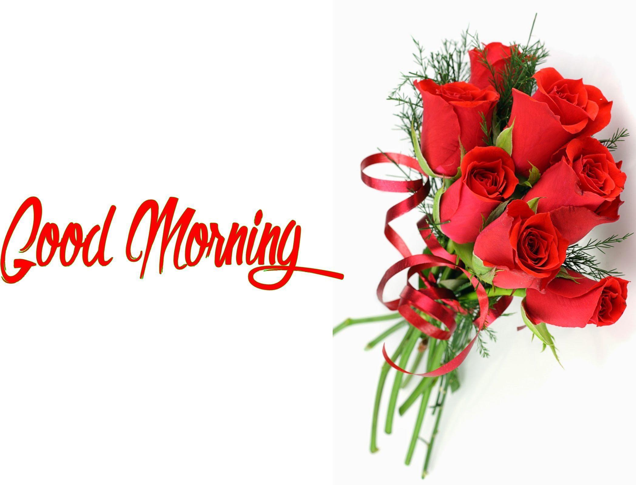 Good Morning Flowers Bunch Hd Wallpaper 00195 Wallpaperk - Flowers Rose Good Morning Image Hd , HD Wallpaper & Backgrounds