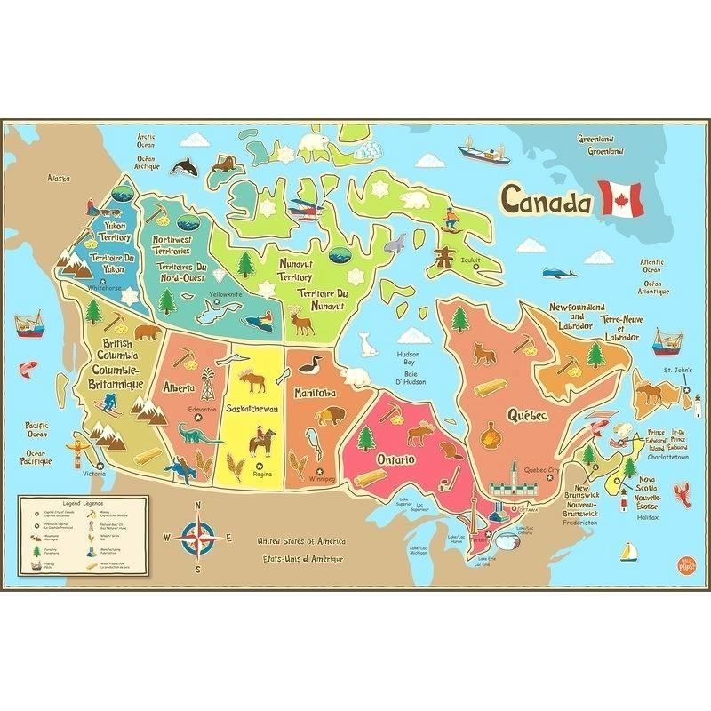 Map - Canada Map Kids (#1701383) - HD Wallpaper ...
