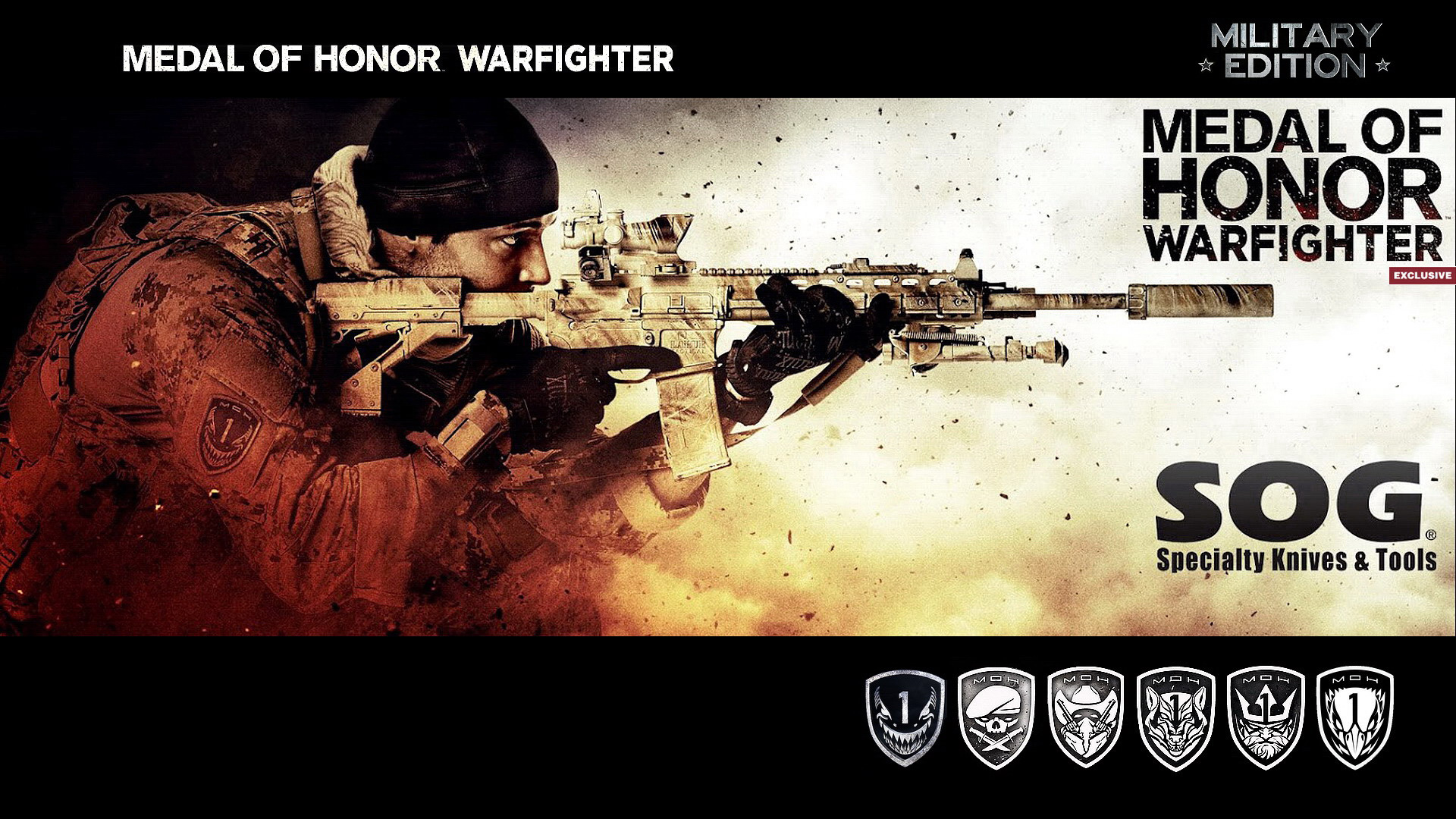 Medal Of Honor Warfighter Military Edition Wallpaper - Medal Of Honor Warfighter Seal , HD Wallpaper & Backgrounds