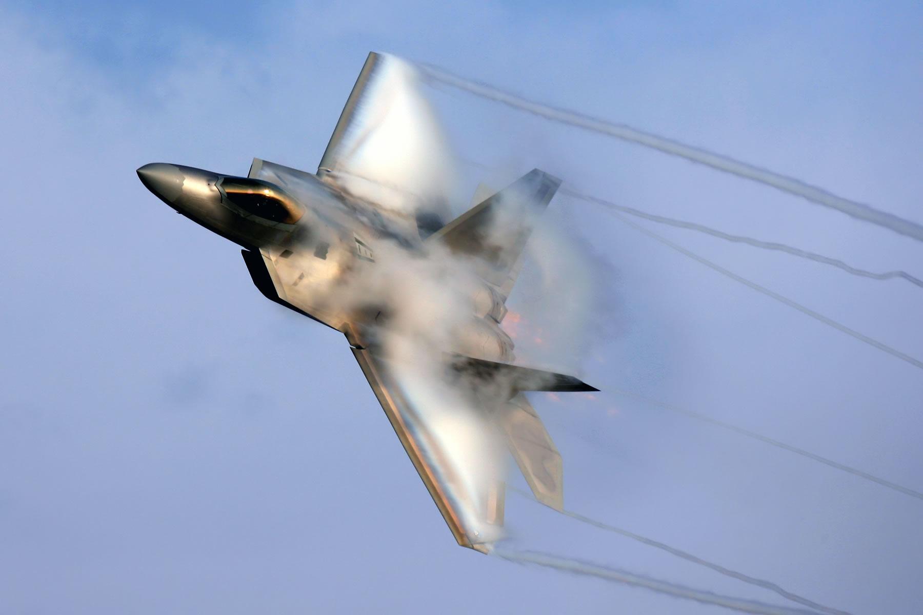 F22 Raptor With Vapor F 22 Raptor Supersonic 1707074 Hd