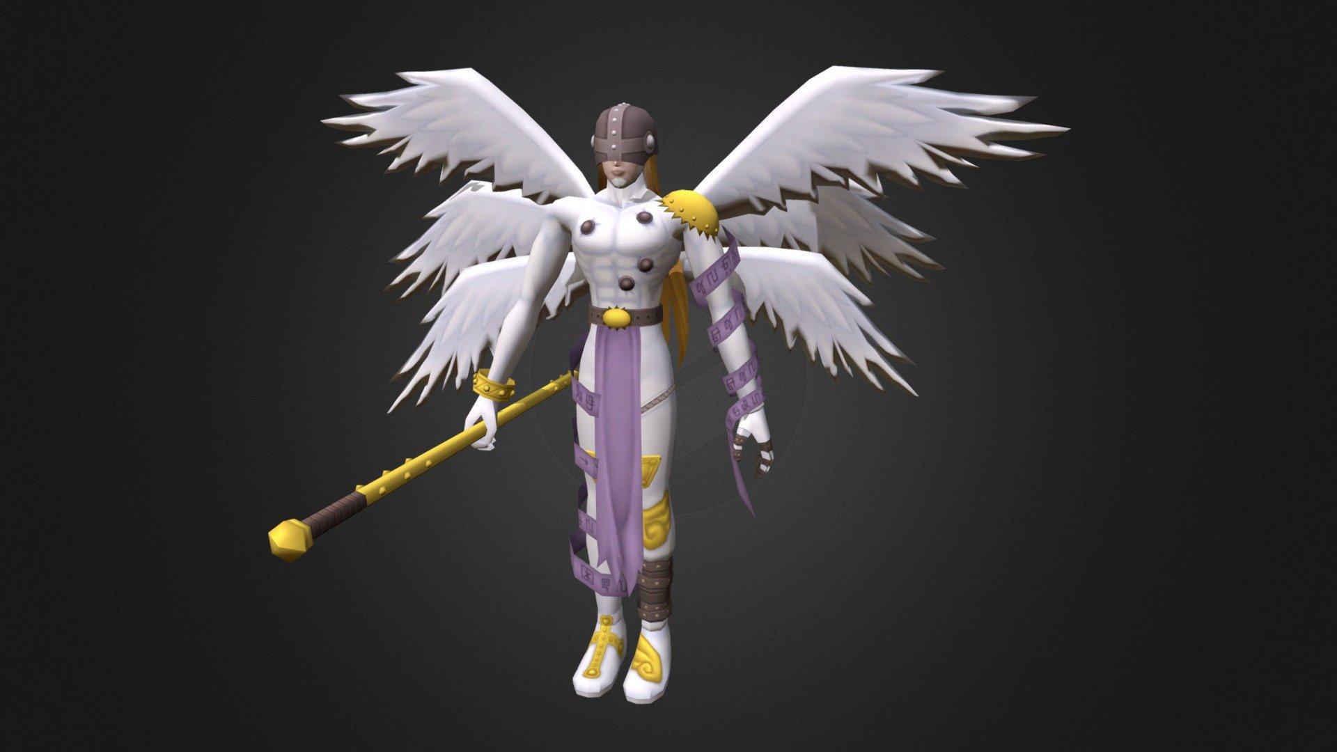 Digimon 3d Angemon Angemon 3d Model 1716194 Hd
