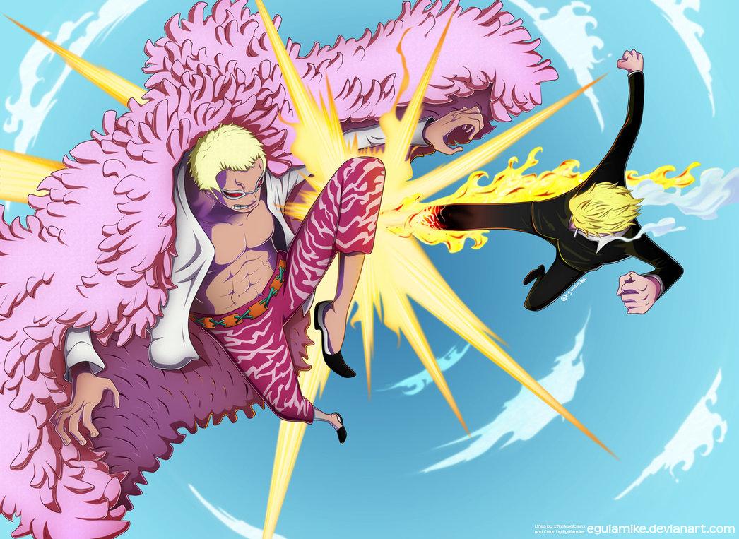 Luffy Vs Doflamingo Wallpaper One Piece Sanji Vs