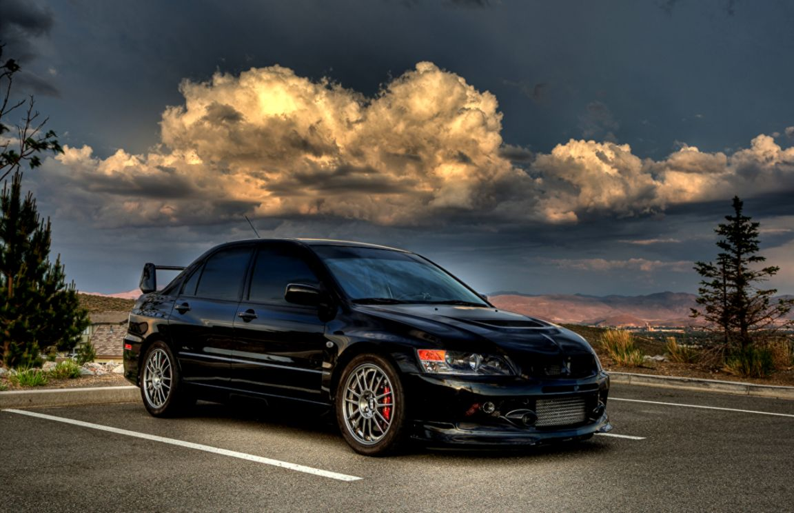 Image Mitsubishi Lancer Evolution Parking Hdri Black Black
