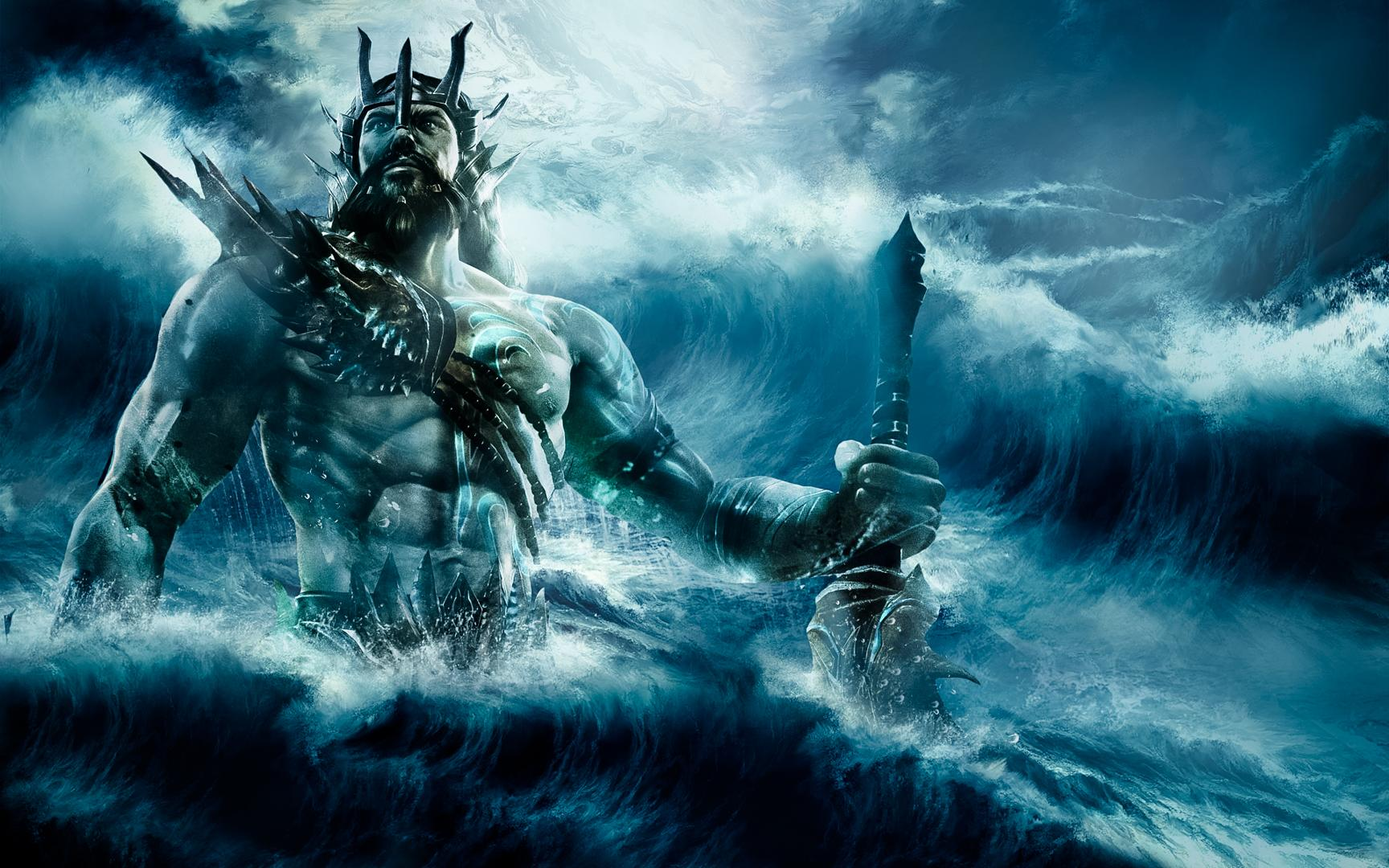 Ancient Gods Hd Wallpaper Poseidon God Of The Sea