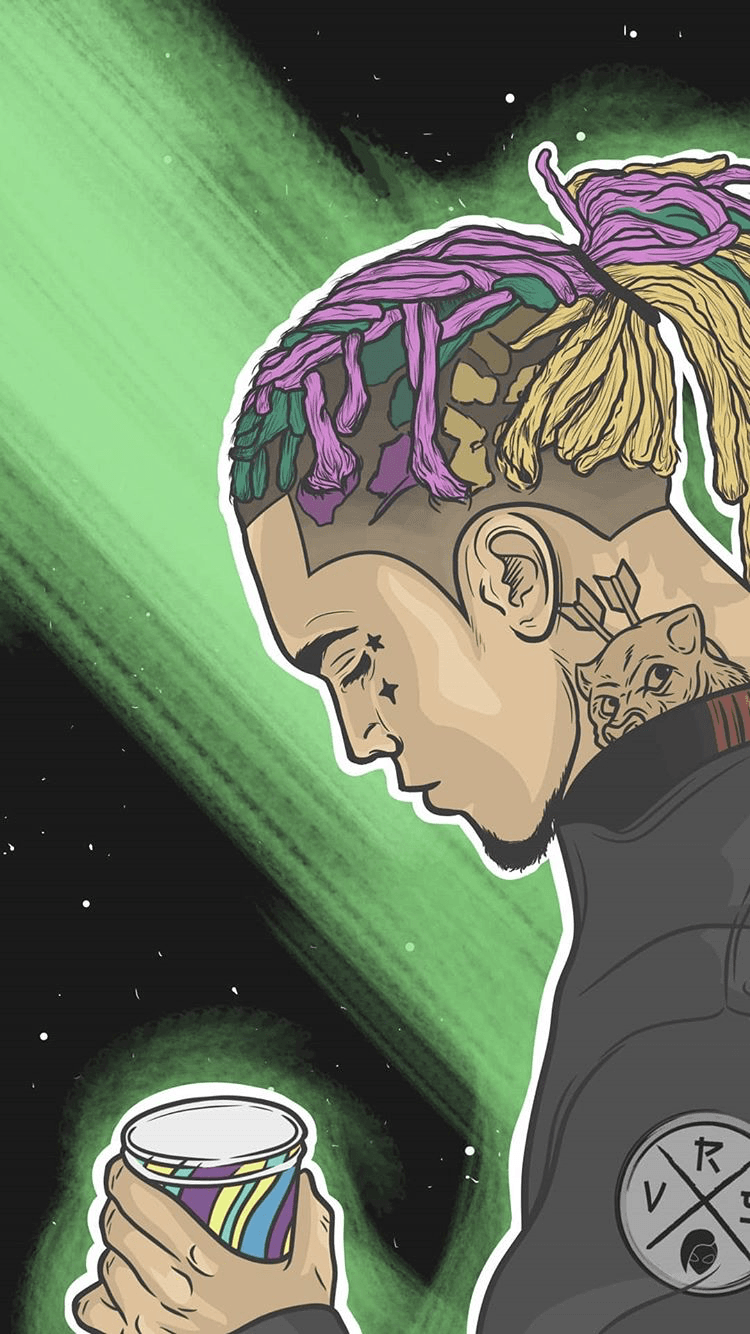 Trippy Wallpapers For Galaxy Lil Skies Wallpaper Cartoon