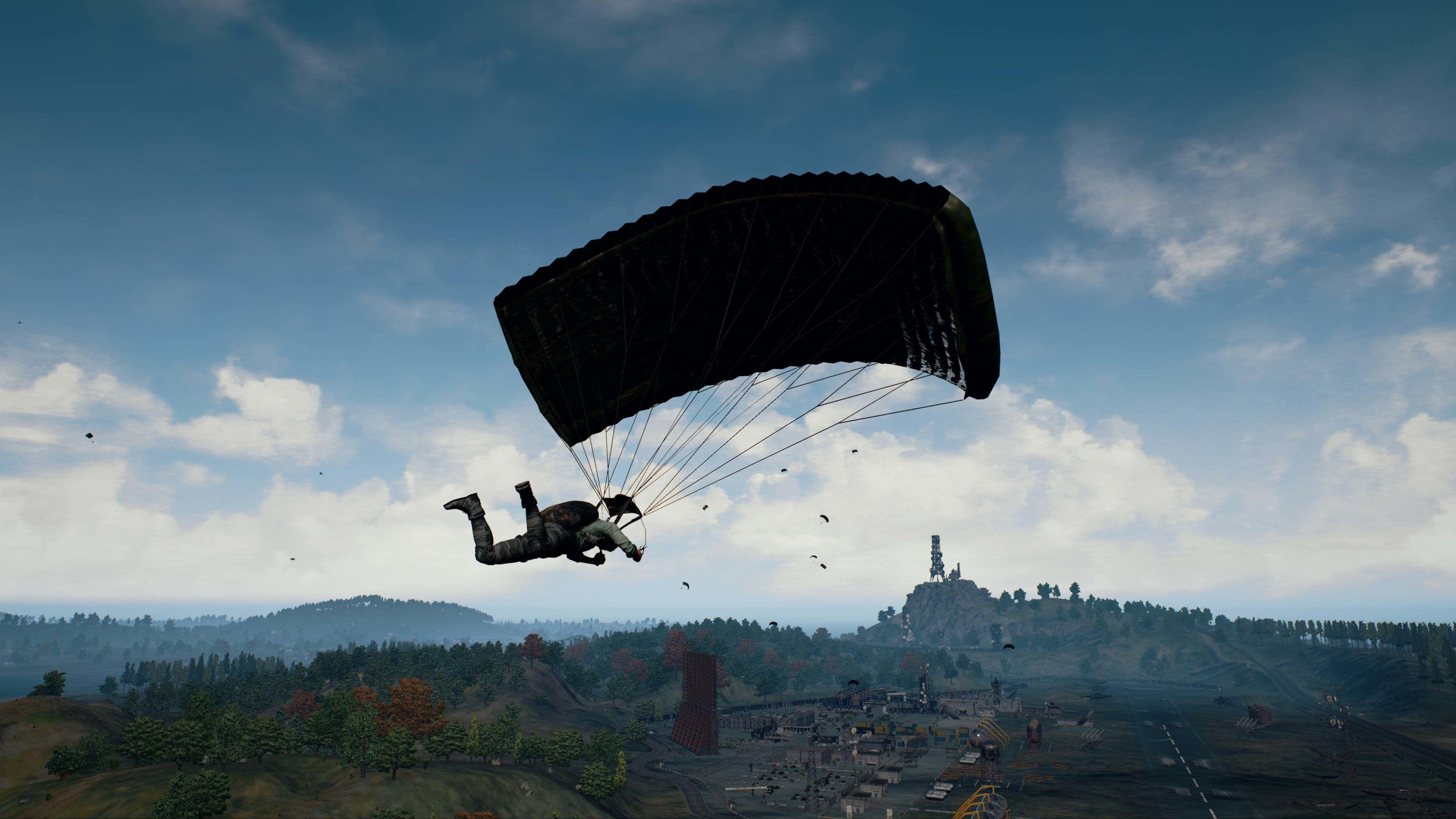 4k Ultra Hd Playerunknown's Battlegrounds Wallpapers,pubg - Pubg Wallpaper Parachute , HD Wallpaper & Backgrounds