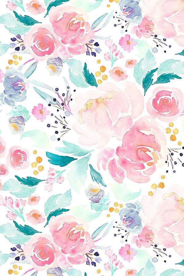 Flower Wallpaper Pinterest Floral Pastel Watercolor