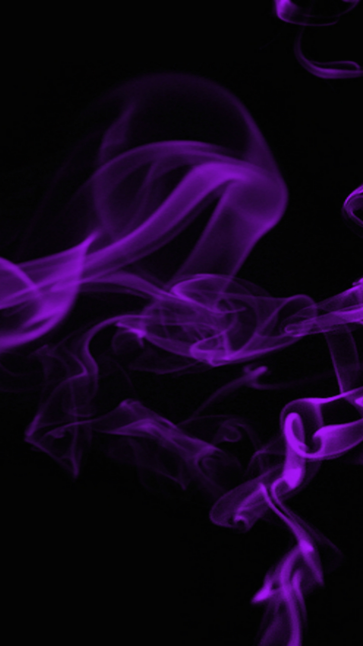 Abstract Smoke Mobile Wallpaper Purple And Black Smoke
