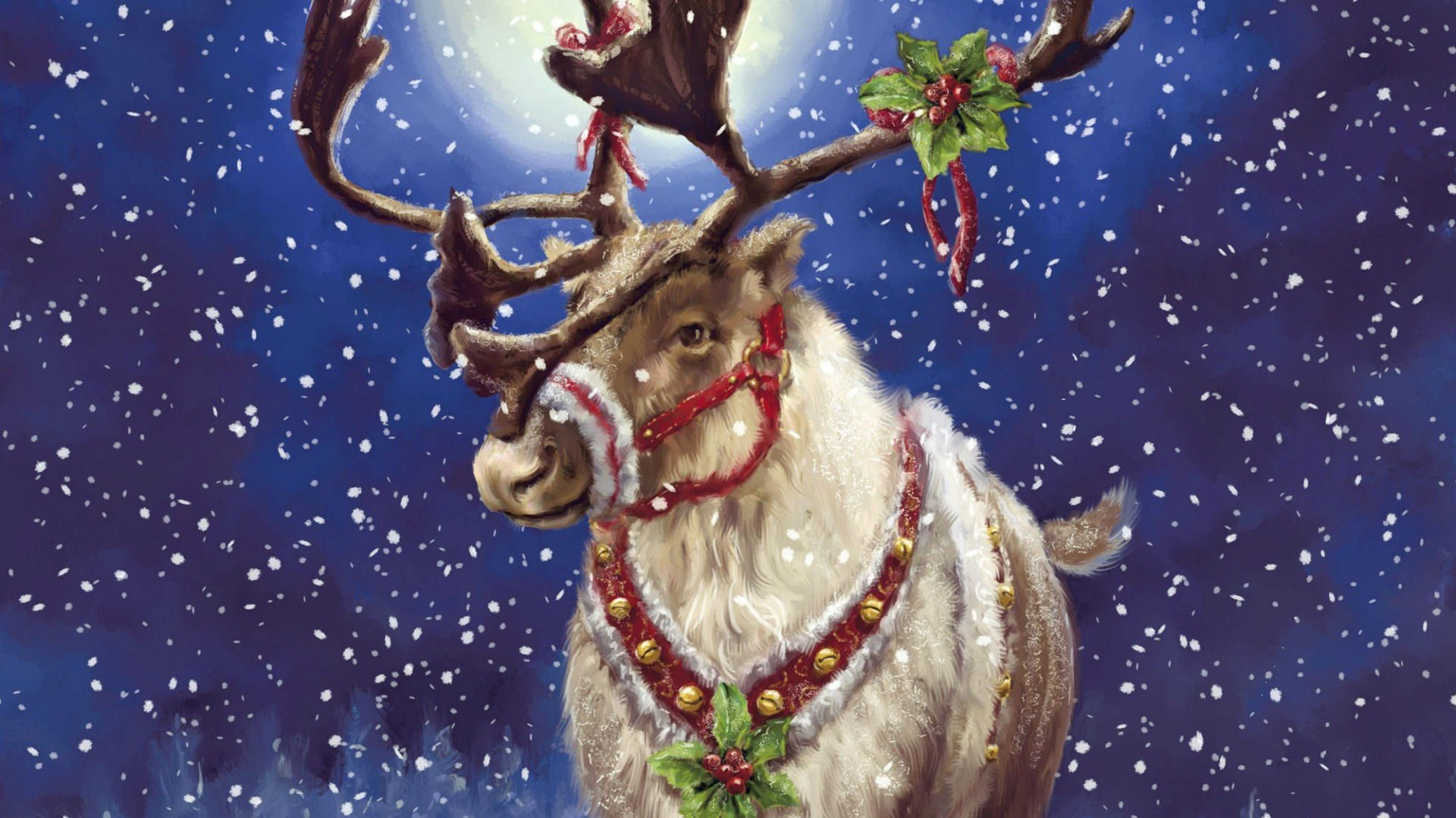 172 1725844 reindeer with mistletoe christmas reindeer