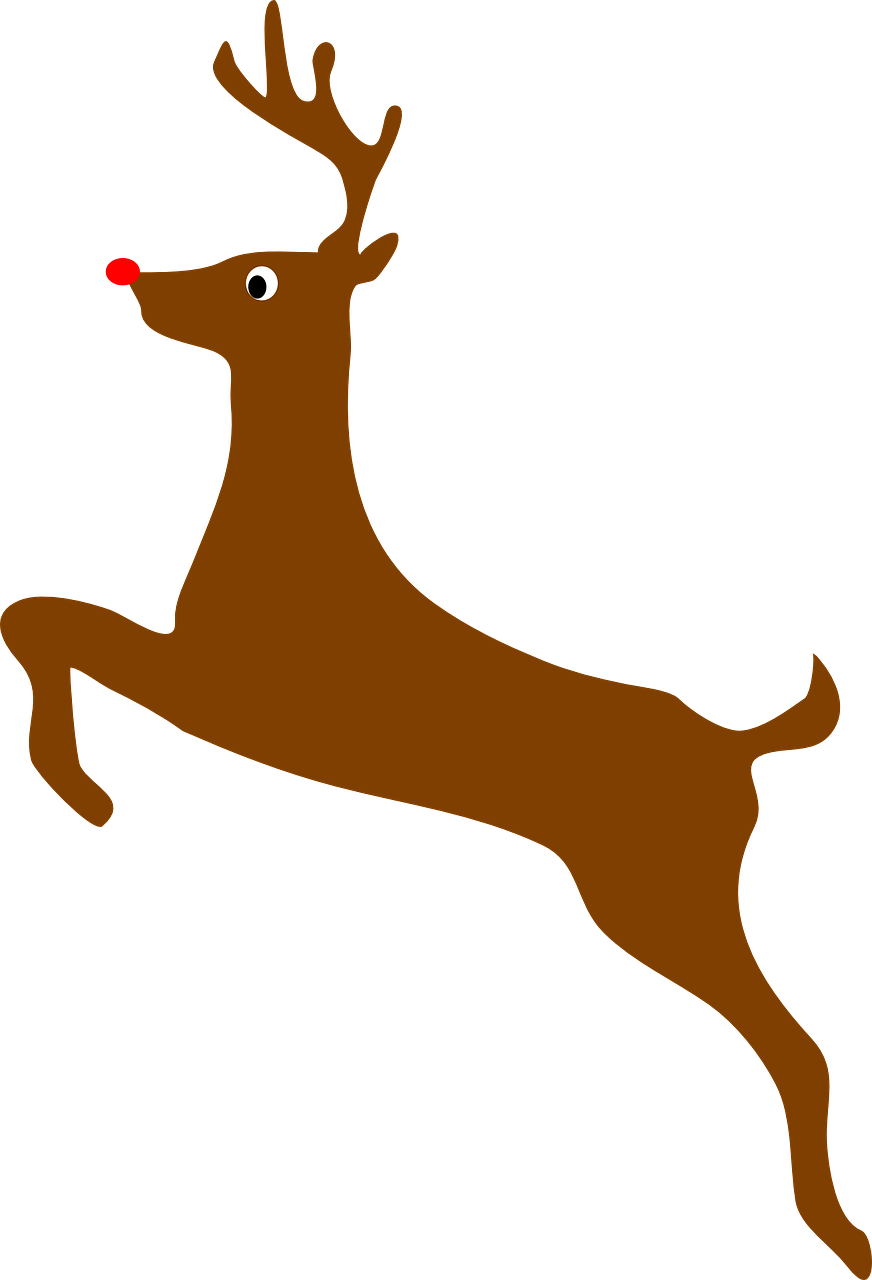 Rudolph Vector Face - Deer Clip Art , HD Wallpaper & Backgrounds
