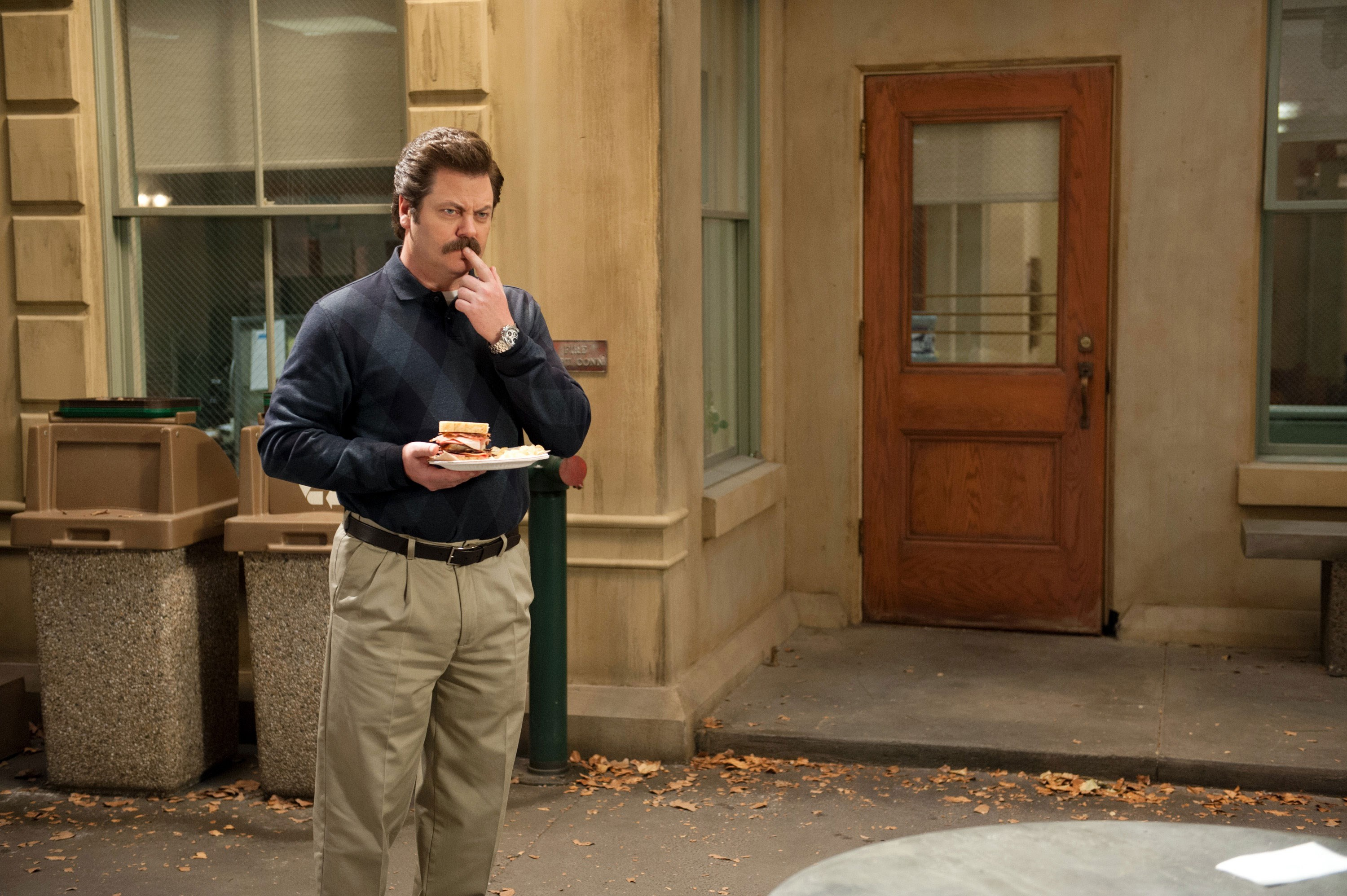 Wallpaper Desktop Parks And Recreation Ron Swanson Standing Up